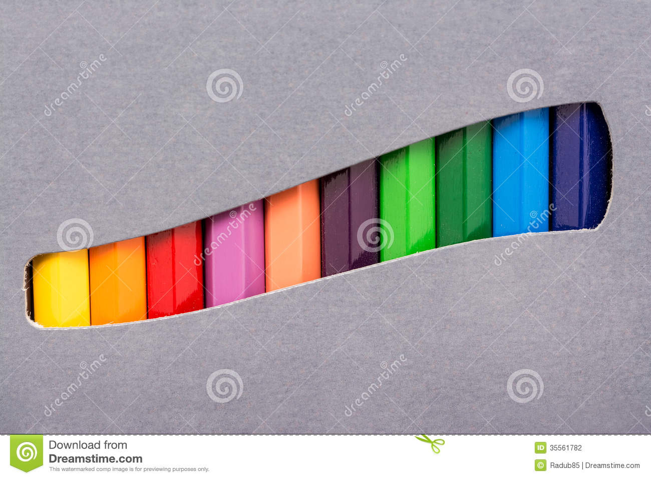 Coloring Crayons Box stock photo. Image of object, pattern - 35561782