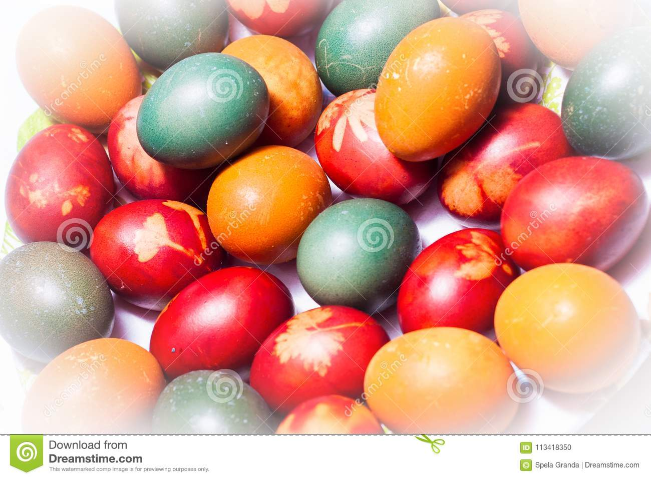 Coloring Easter Eggs In Natural Dyes Stock Photo - Image of ...