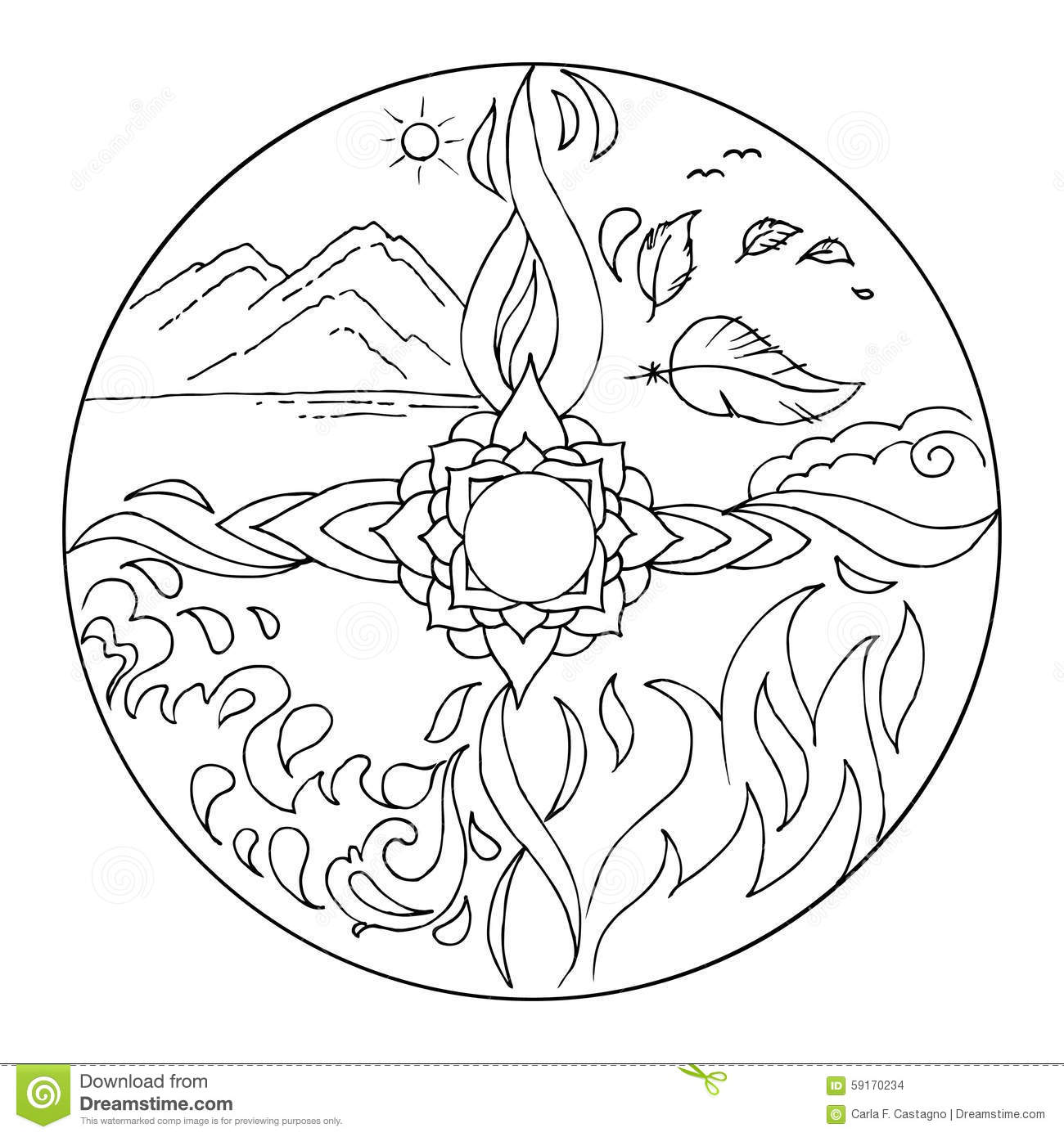 earth flower coloring pages - photo#27