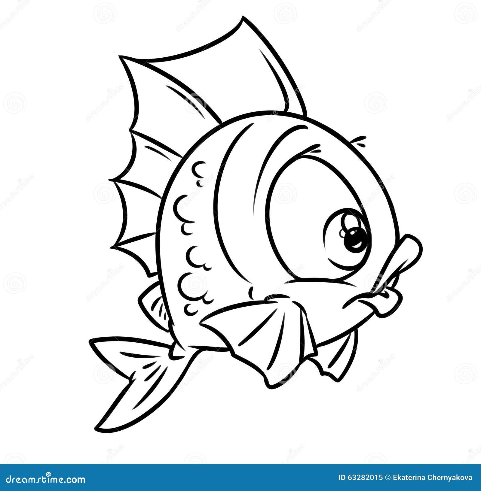 Coloring Fish Ball Cartoon Illustration Stock Illustration ...