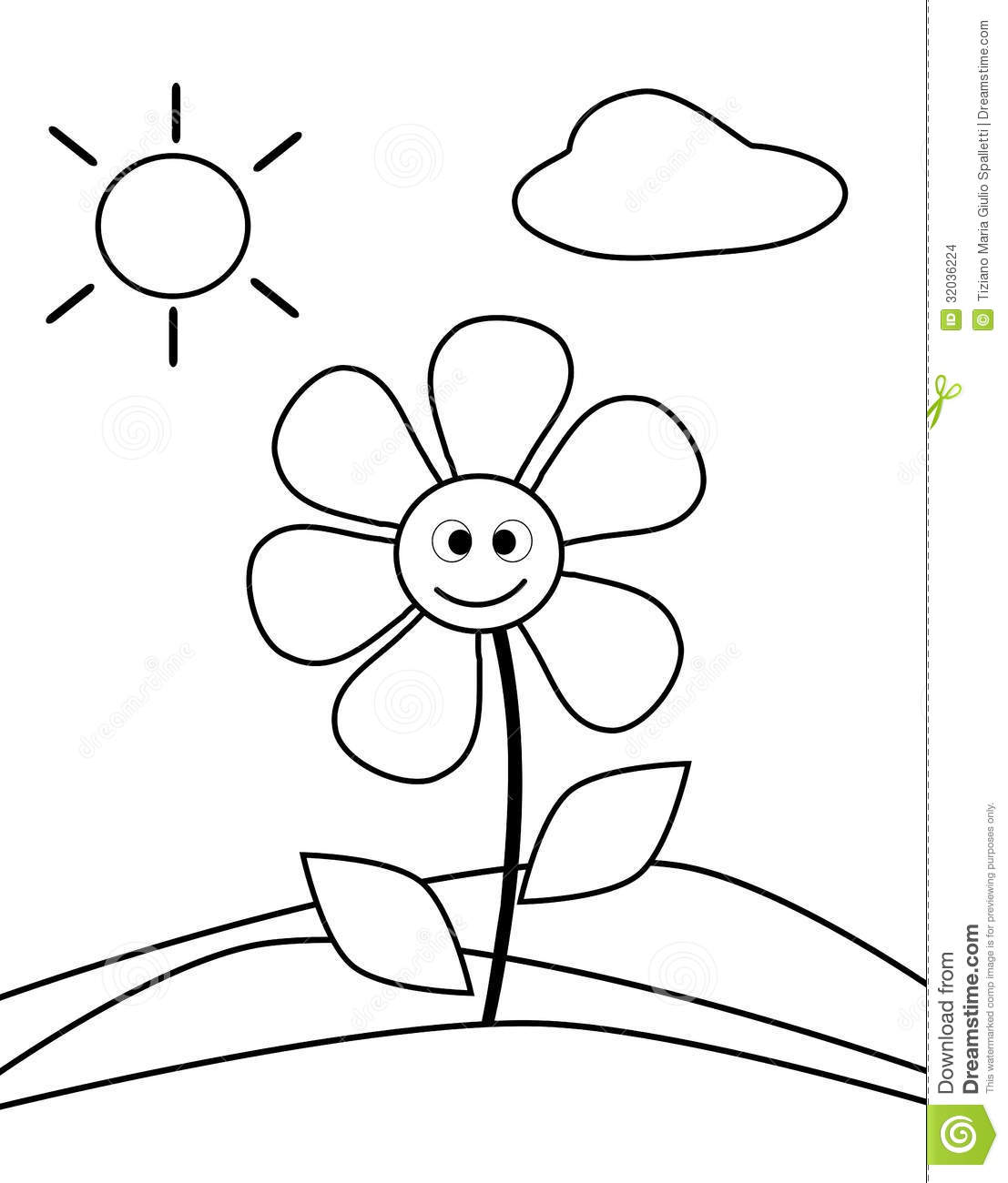Coloring flower stock photo. Illustration of closeup ...