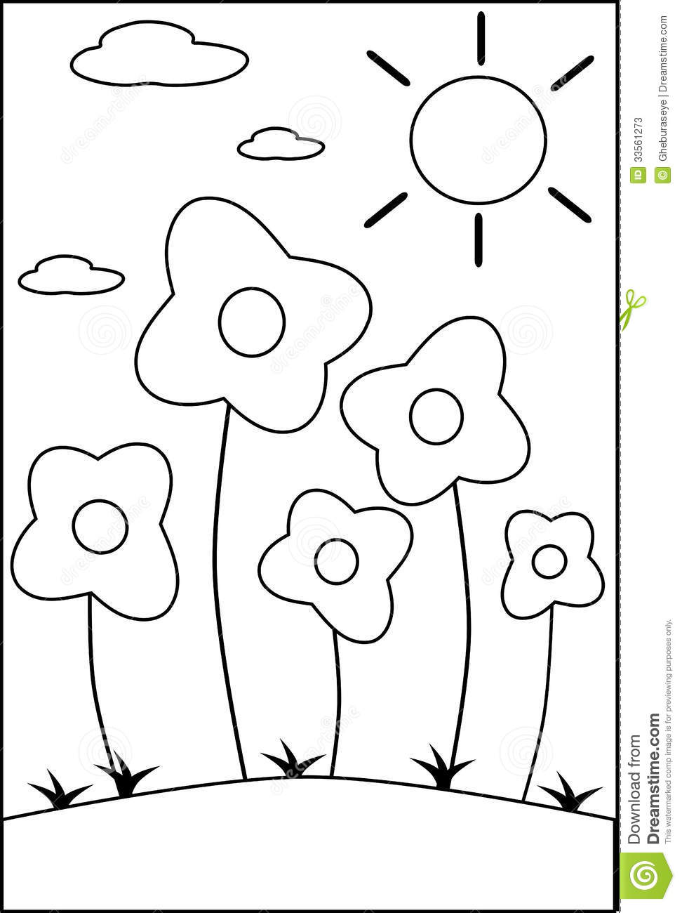 Coloring Flowers Stock Photos - Image: 33561273