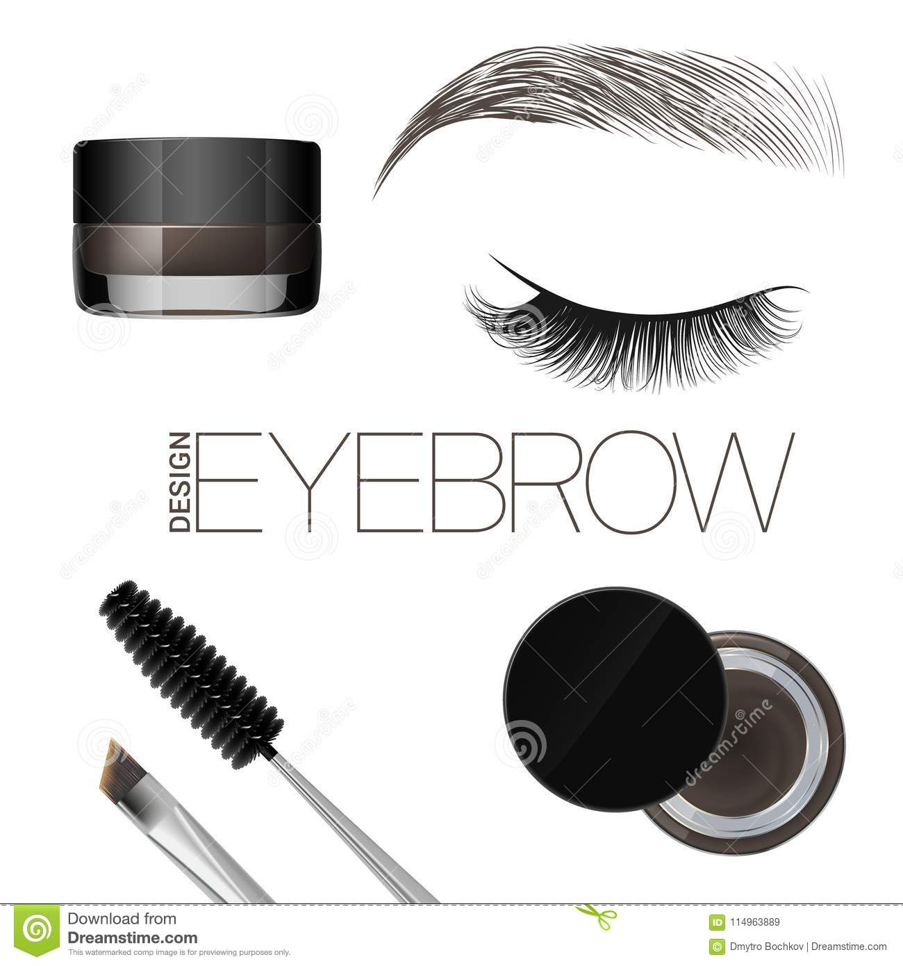 Coloring Gel For Eyebrows Eyebrows Makeup Brush And Comb For