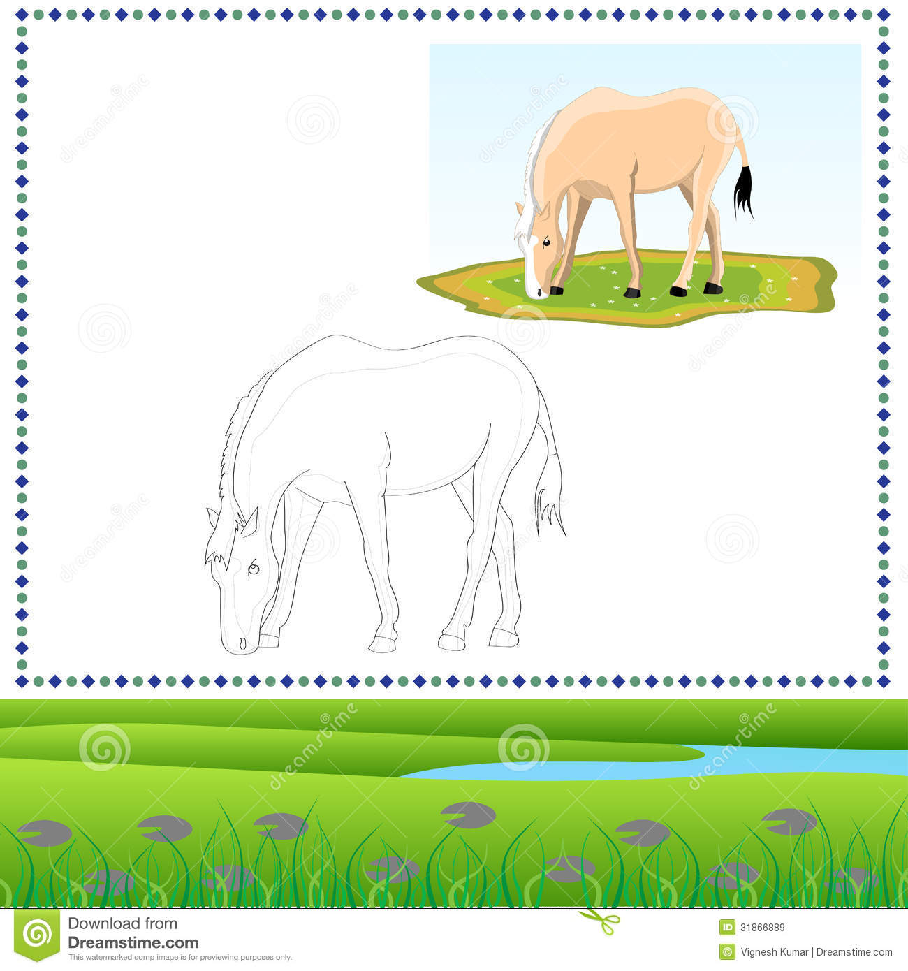 Coloring Horse stock image. Image of animal, foot, farm - 31866889