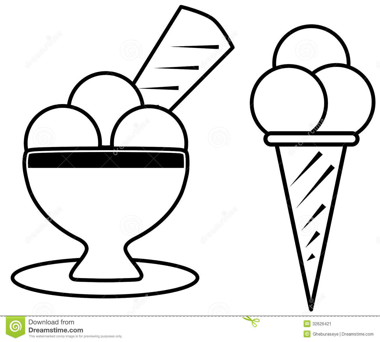 coloring ice cream stock vector illustration of color free clip art ice cream sundae bar free clipart ice cream sundae photos