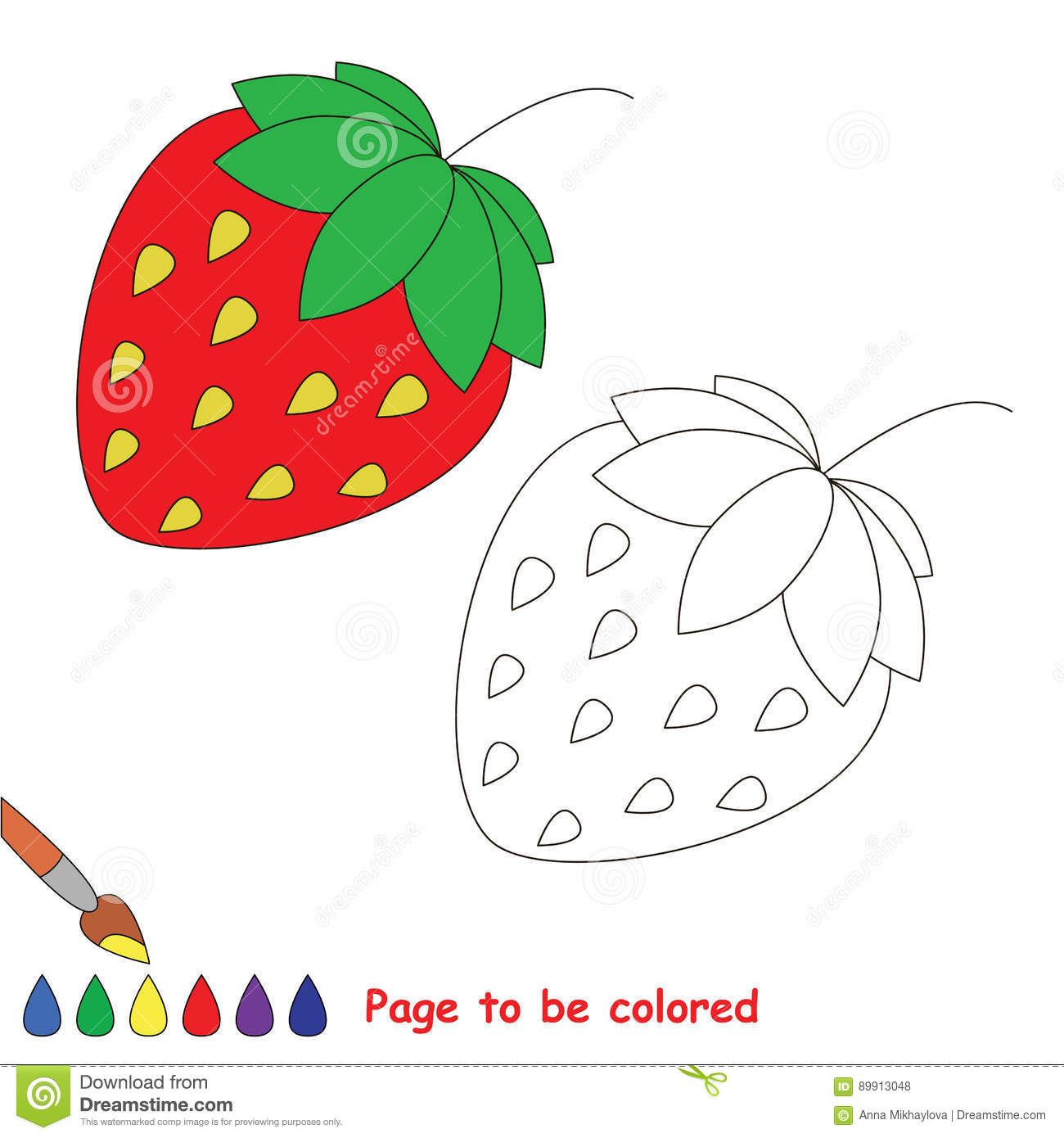 - Coloring Kid Game. Educational Page To Be Colored. Stock Vector