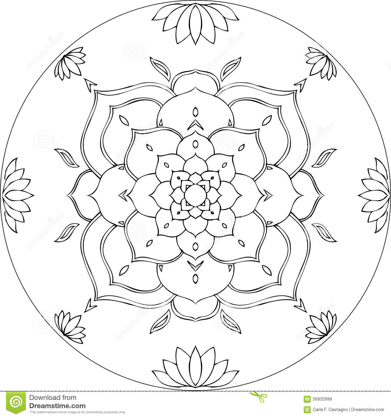 Image Result For Lotus Flower Mandala Coloring Pages Printable
