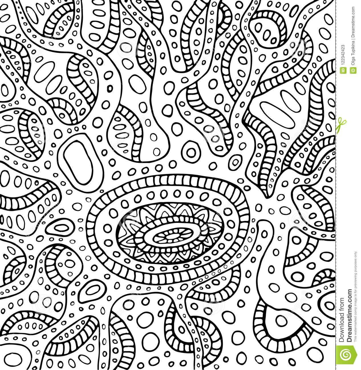 Coloring Page Abstract Pattern Maze Of Ornaments