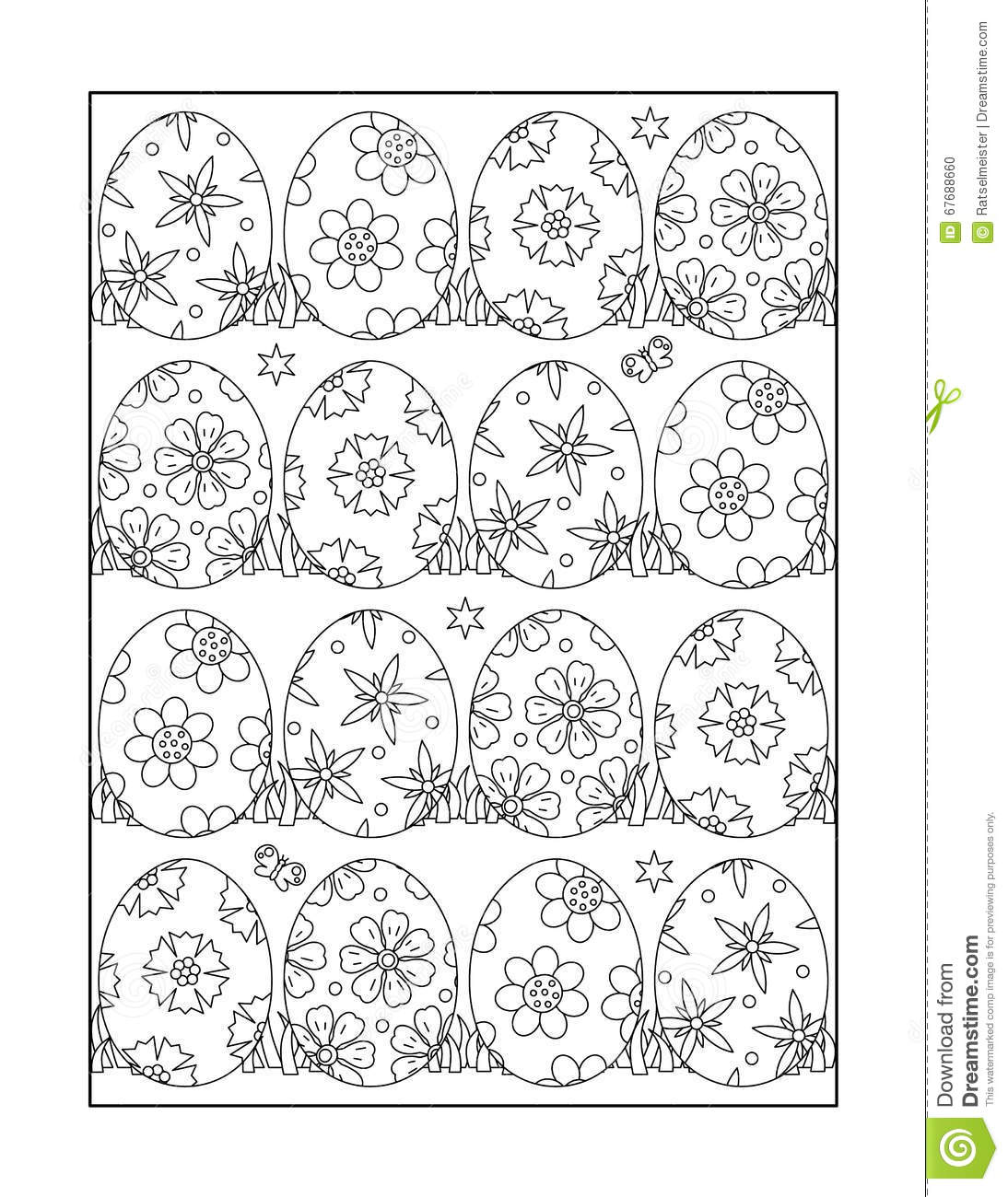 Coloring Page For Adults And Children Or Black And White