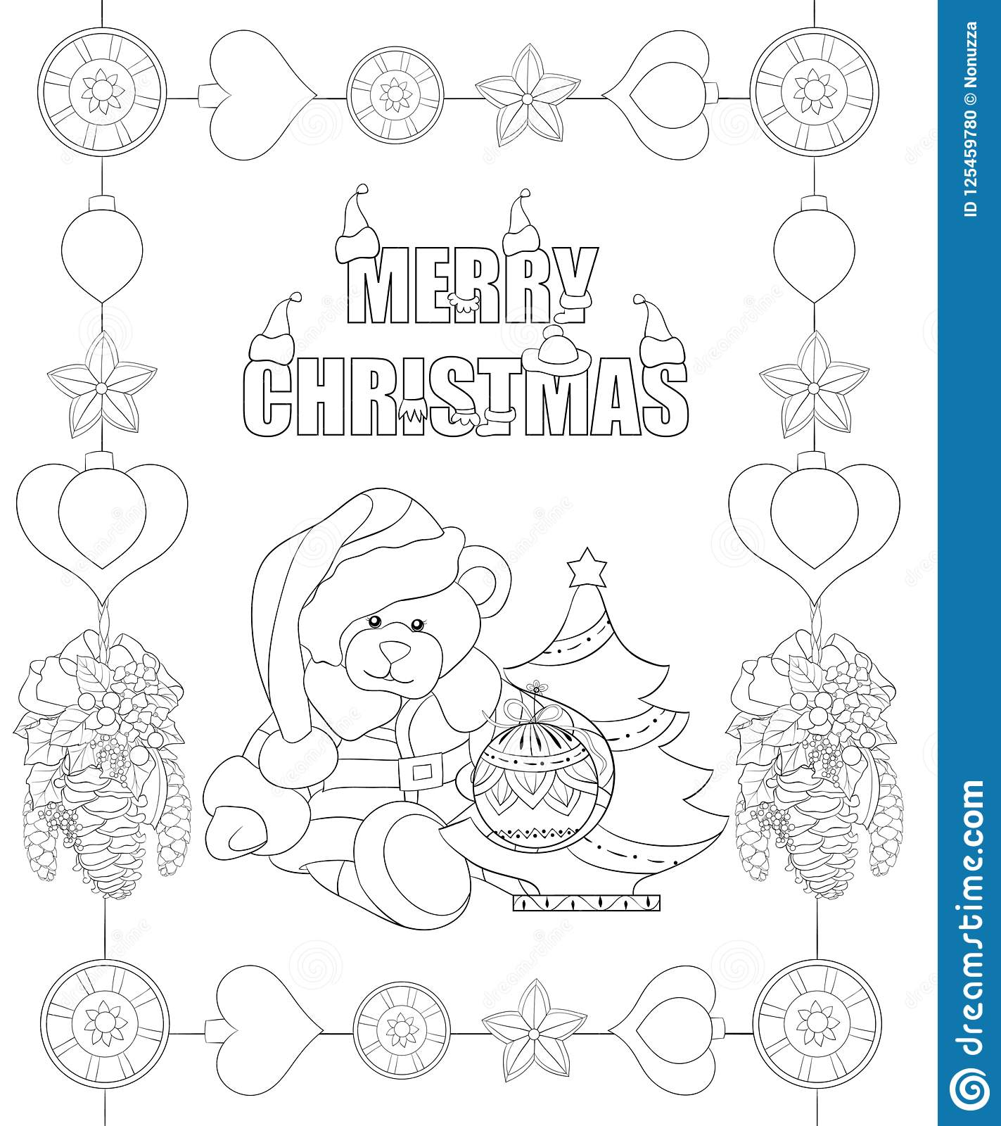 Christmas Tree Cones to Color | Christmas tree coloring page ... | 1600x1423