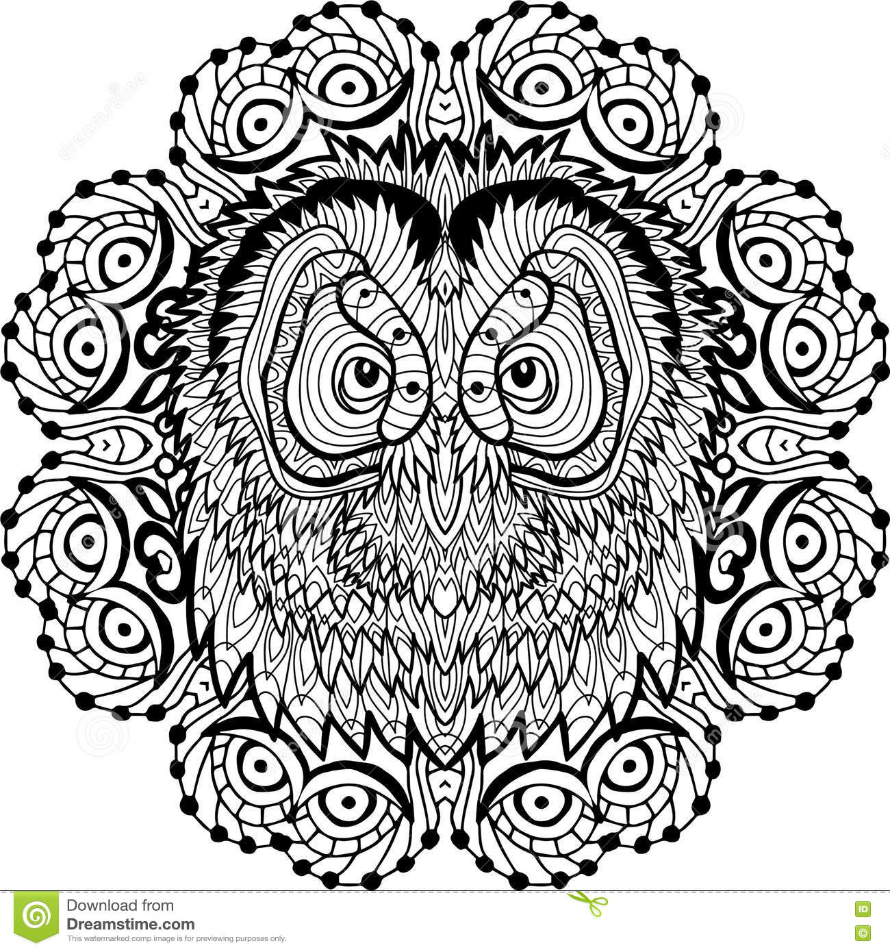 Owl simple patterns 1 - Owls Coloring Pages for Adults - Just ... | 1390x1300