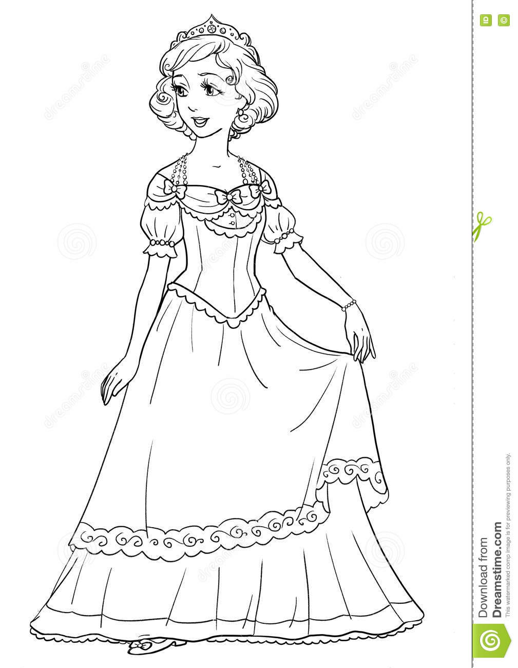 One cartoon pretty girl dance cartoon vector for Beautiful dress coloring pages