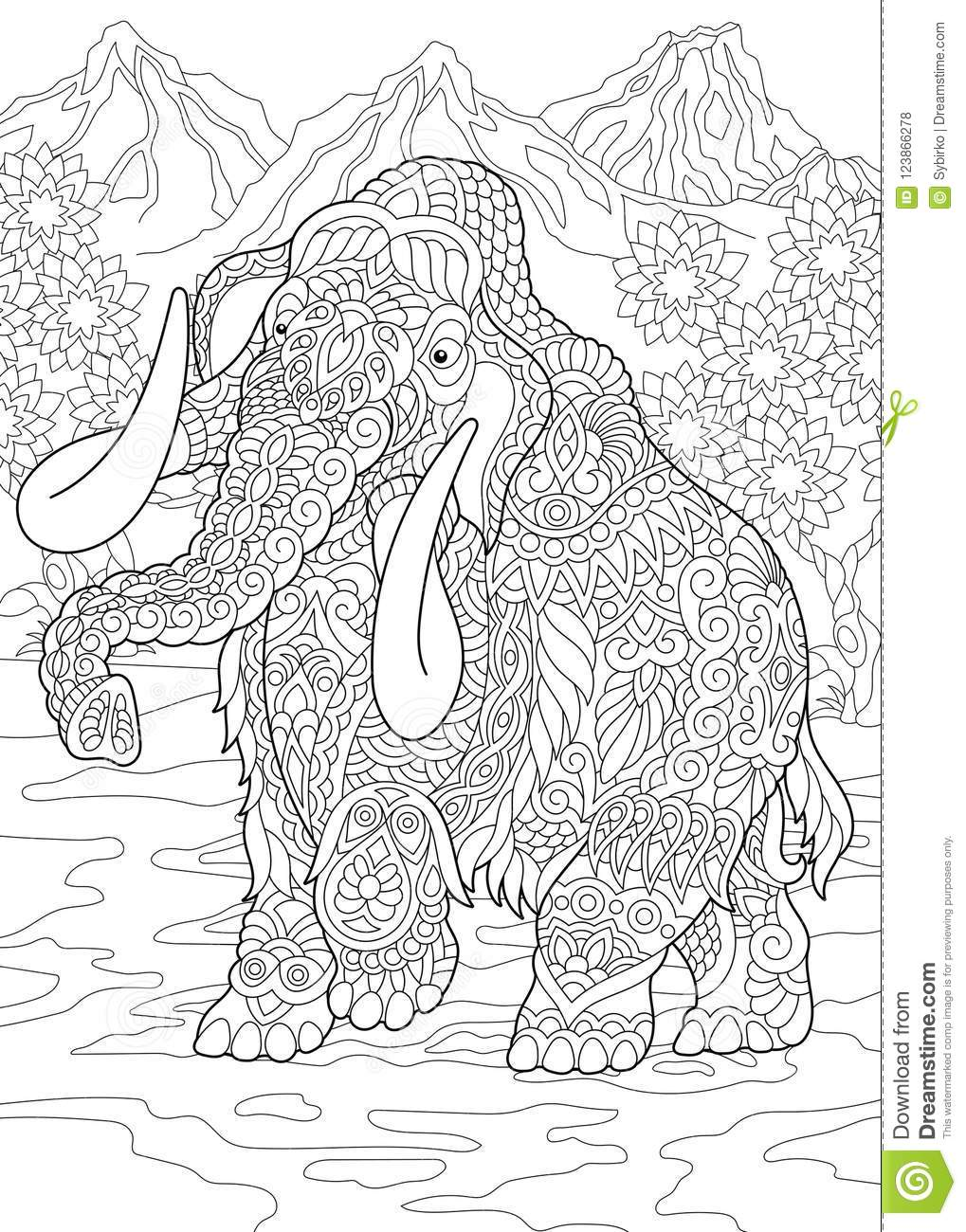Brother Bear and Mammoth Coloring Page - ColoringBay | 1300x1019