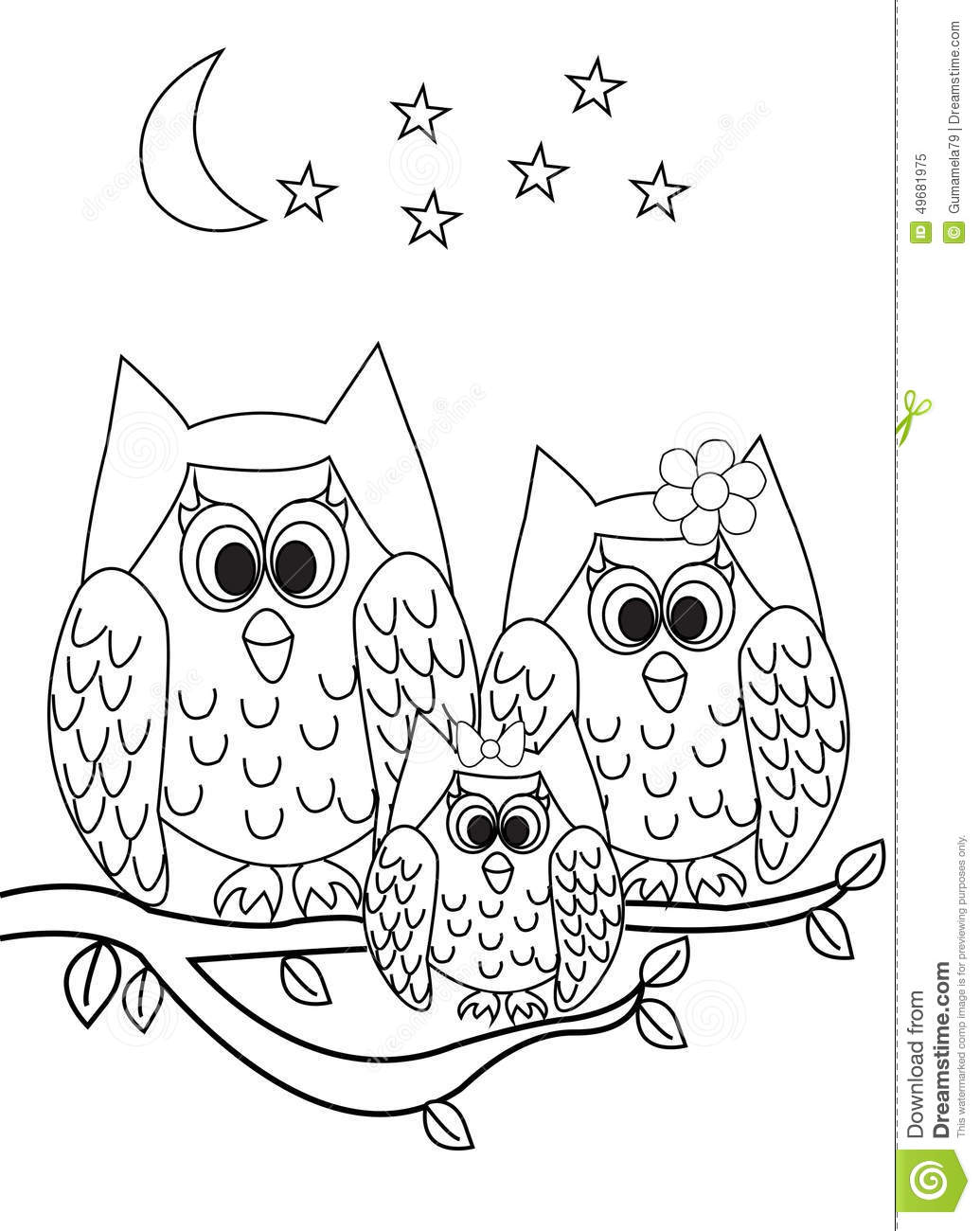 Coloring Page Book Owl Stock Illustration Illustration Of Contour