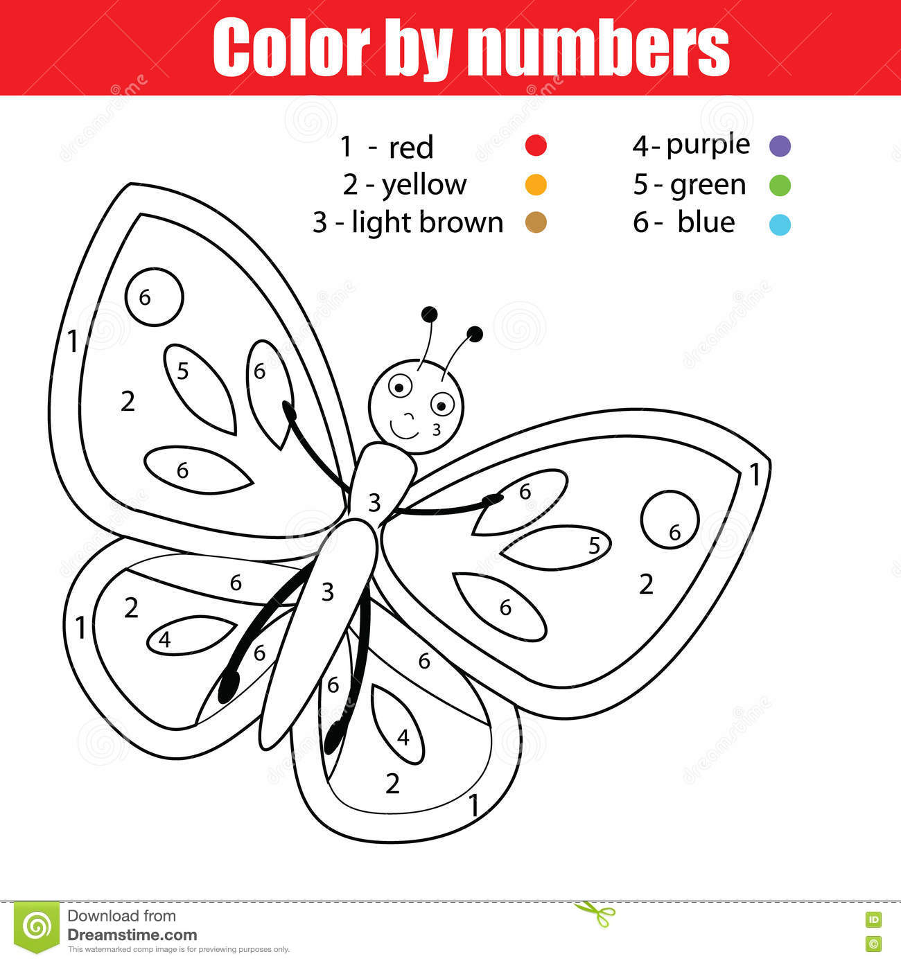 Royalty Free Vector Download Coloring Page With Butterfly