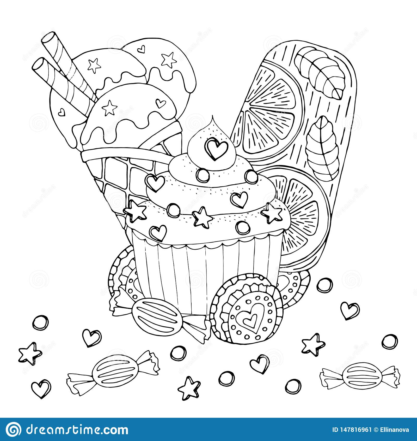 Awesome Ice Cream Dessert Coloring Pages Anyoneforanyateam