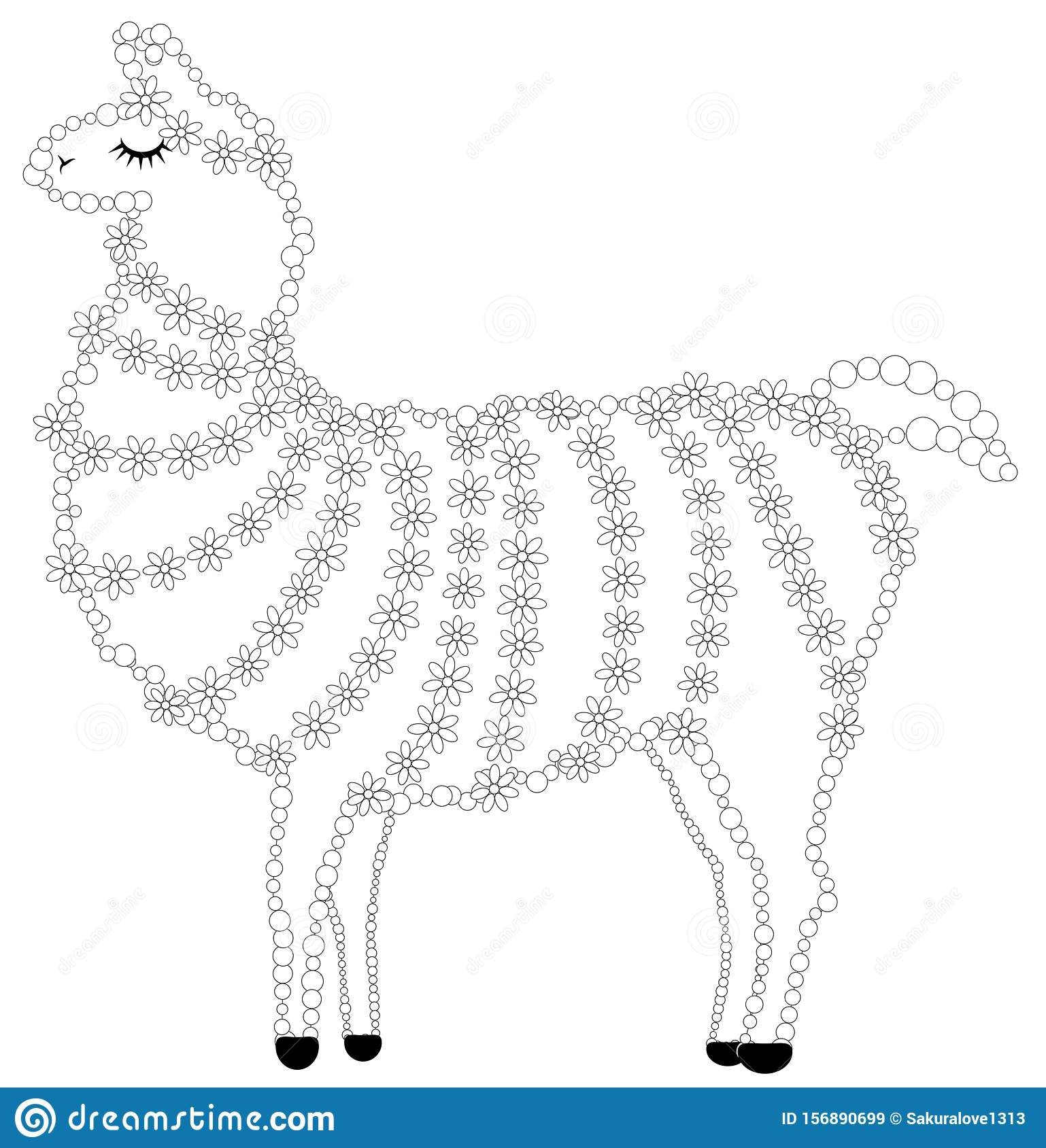 Lama coloring page for free download and ready for printing ... | 1689x1538