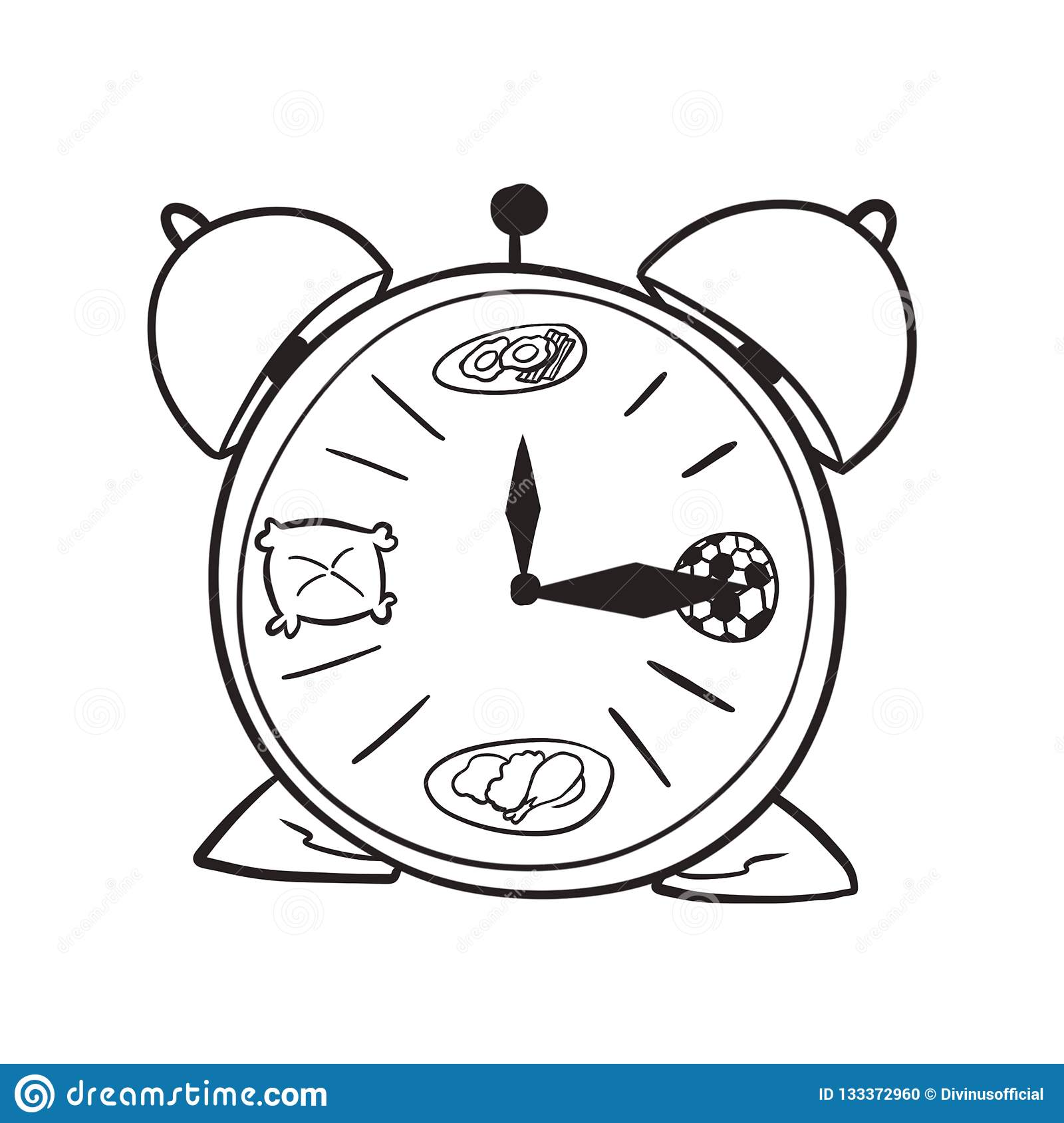 Coloring Page Of A Clic Clock