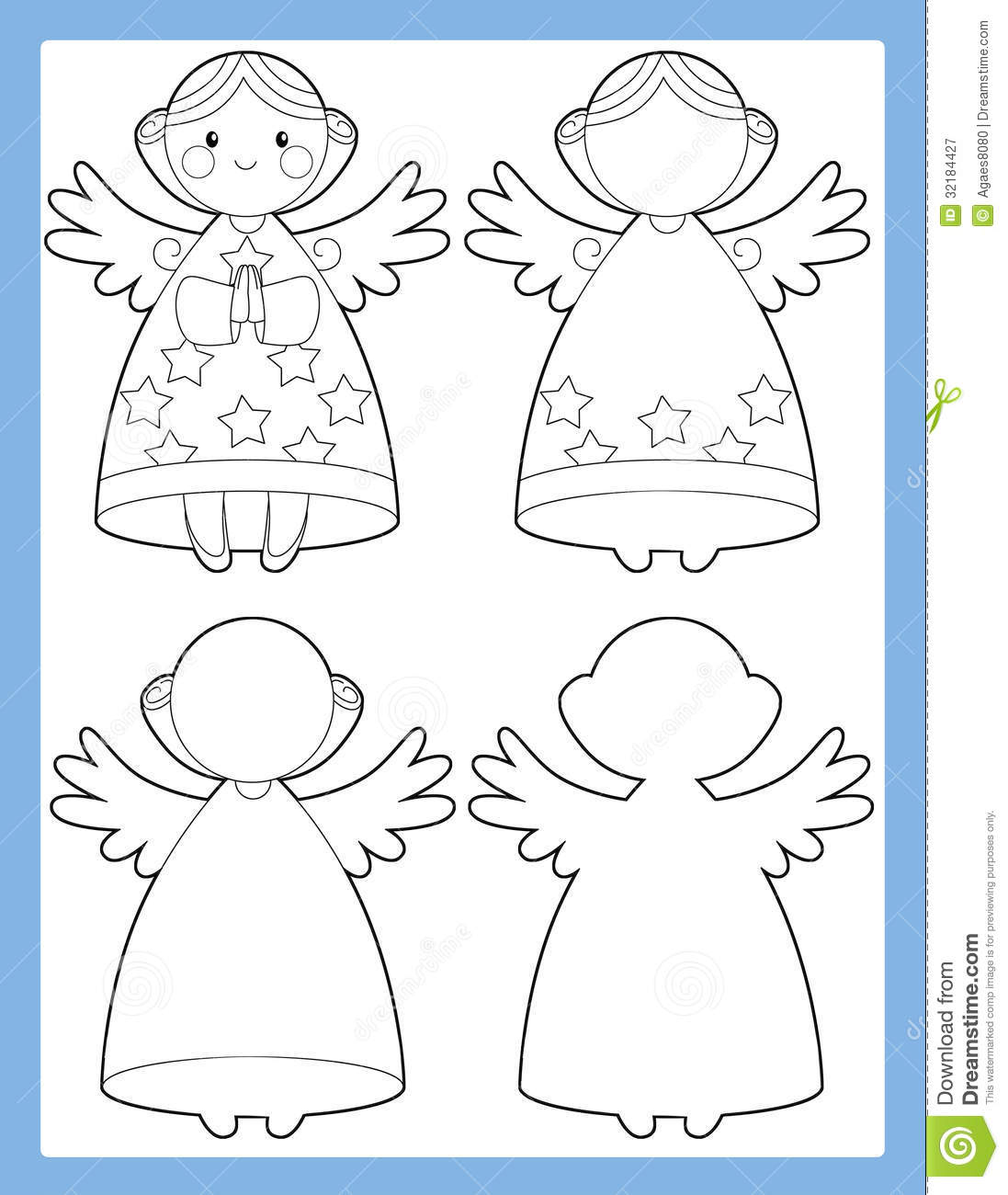 royalty free stock photo download the coloring page - Coloring Pages Beautiful Angels