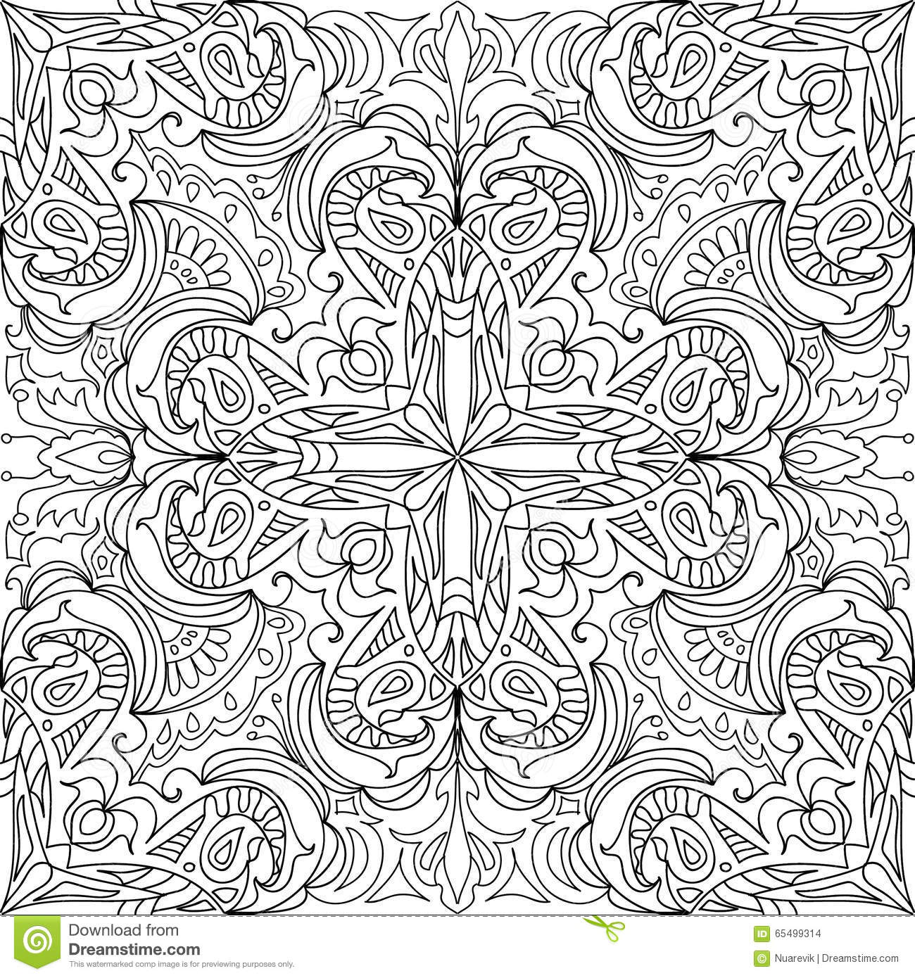 Coloring Page Cross Royal Seamless Pattern Stock Illustration ...