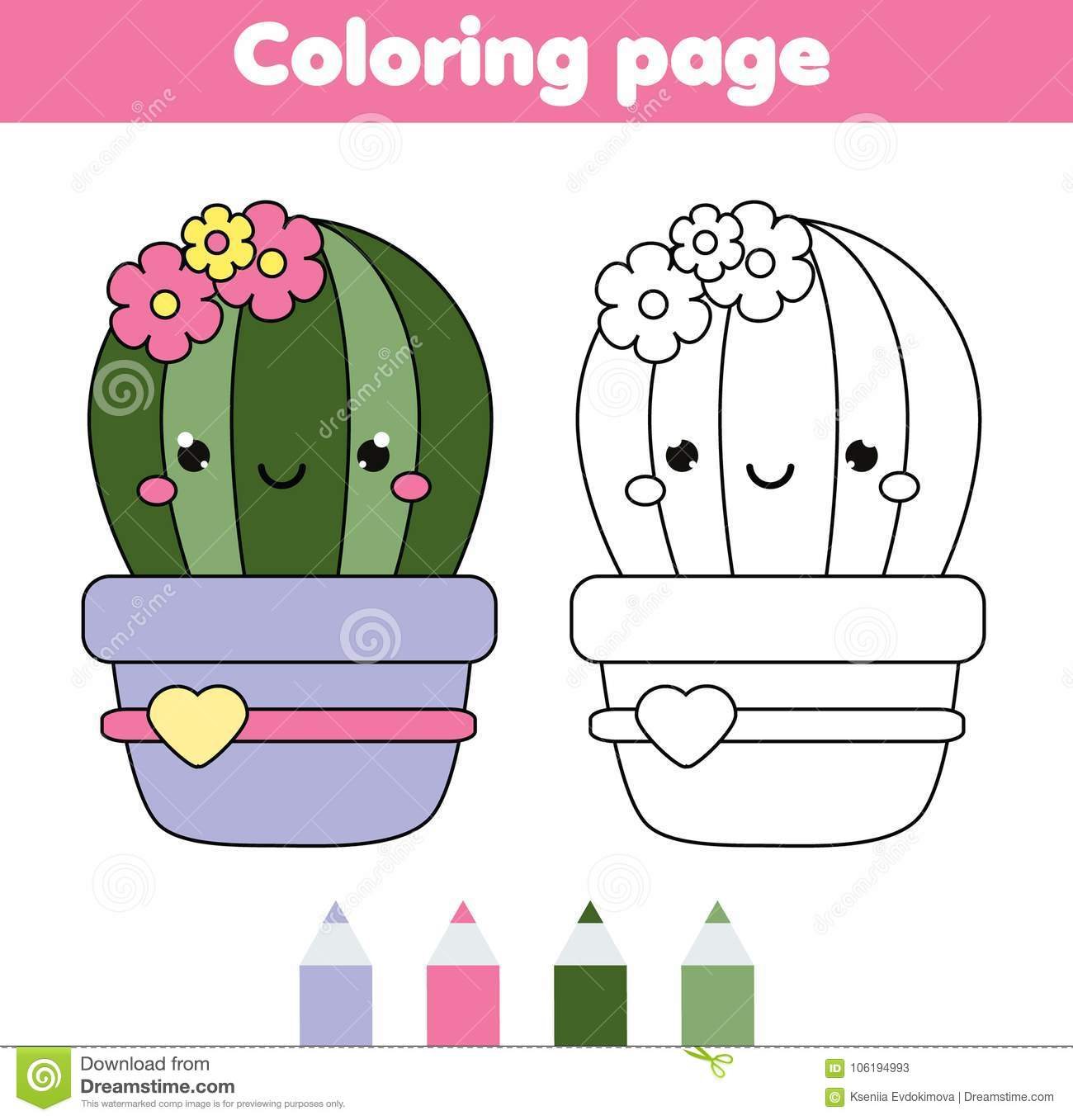 23+ Pretty Picture of Cactus Coloring Page - birijus.com | 1357x1300