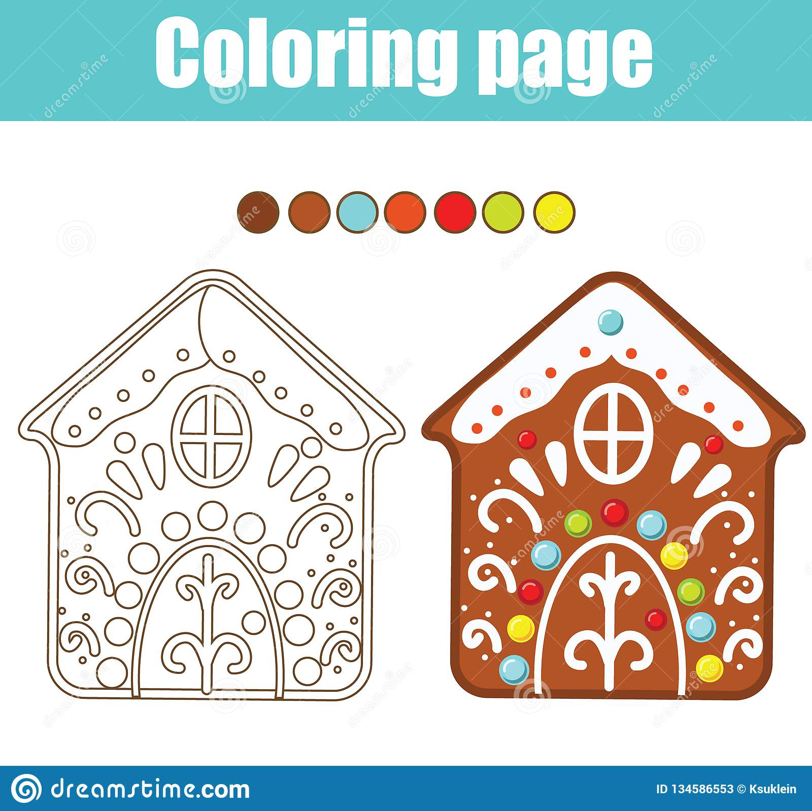 image regarding Printable Gingerbread House named Coloring Web page. Instructive Kids Video game. Coloration Gingerbread