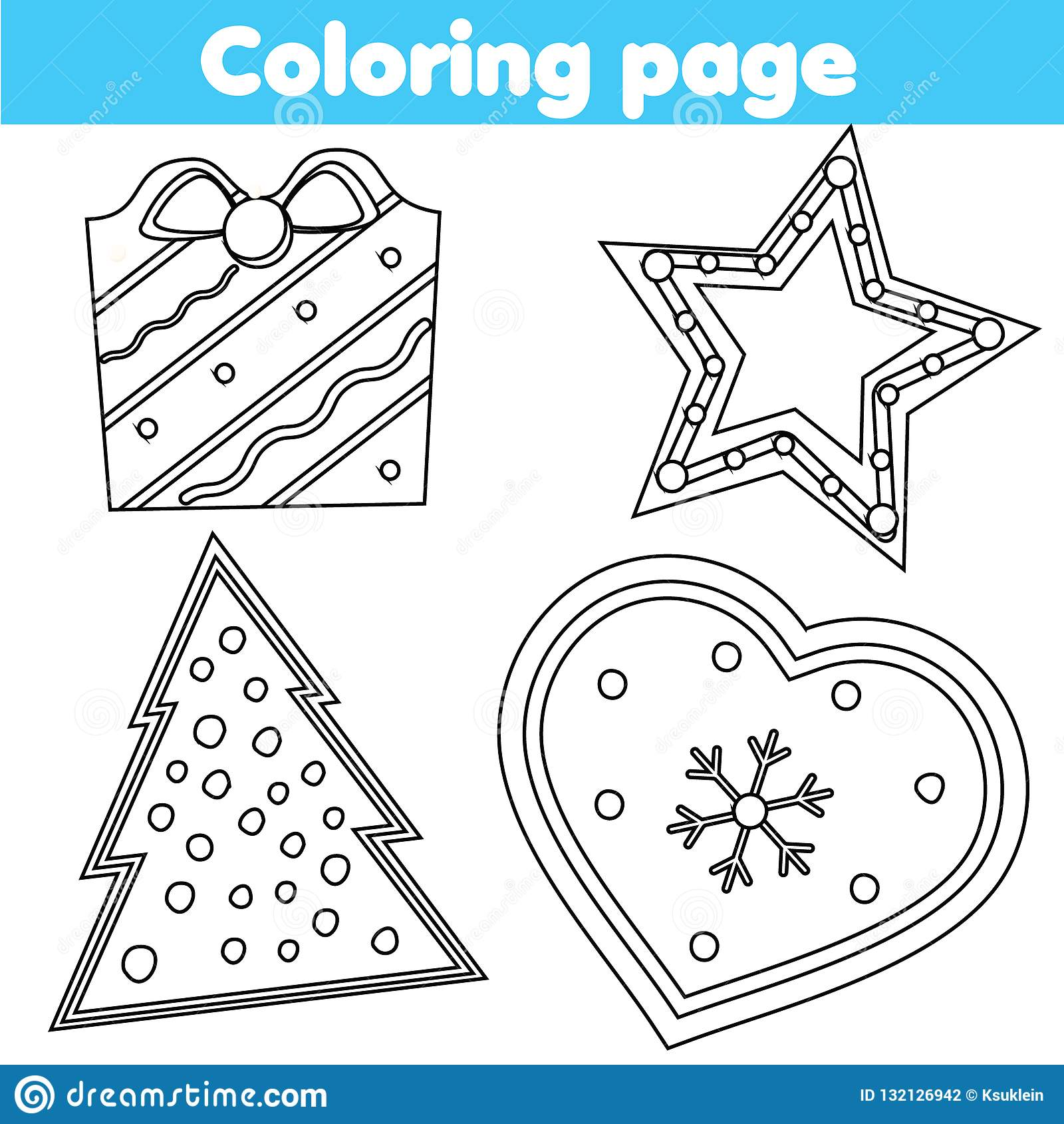 Coloring Page Educational Game For Children Color Christmas