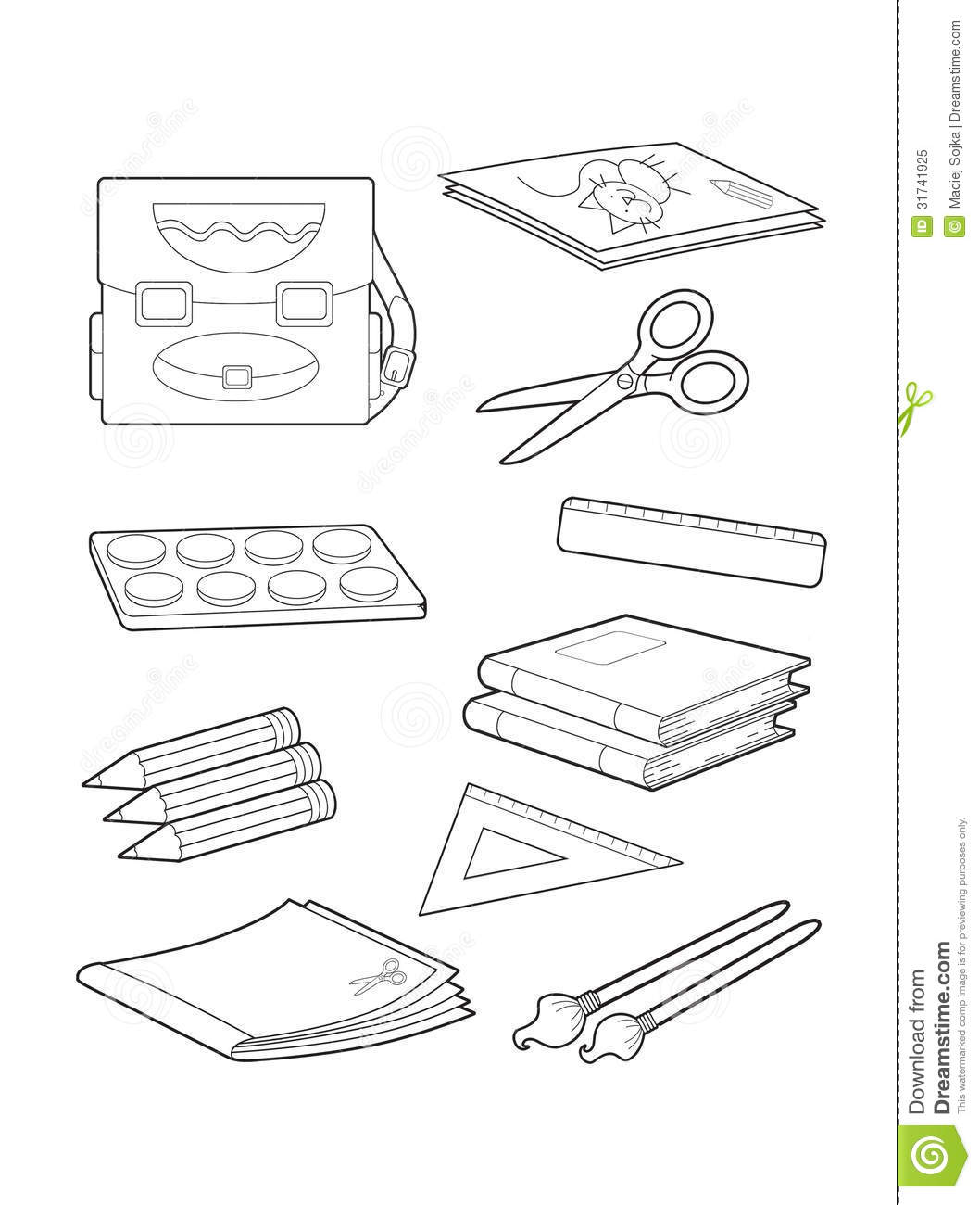 Free Classroom Objects Coloring Pages