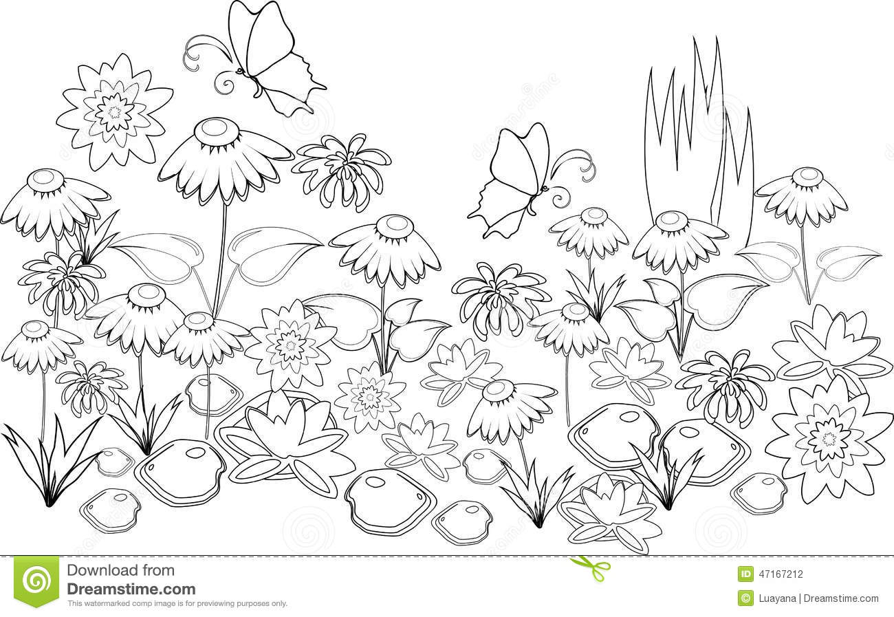 Coloring page stock vector Illustration