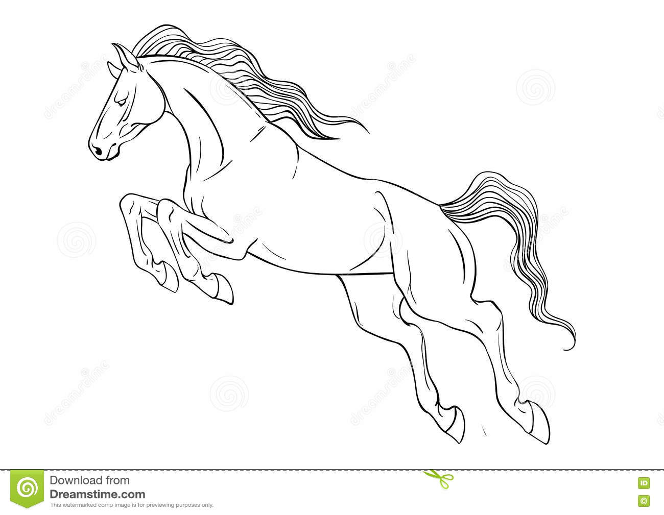 Coloring page with horse stock vector. Illustration of coloring ...