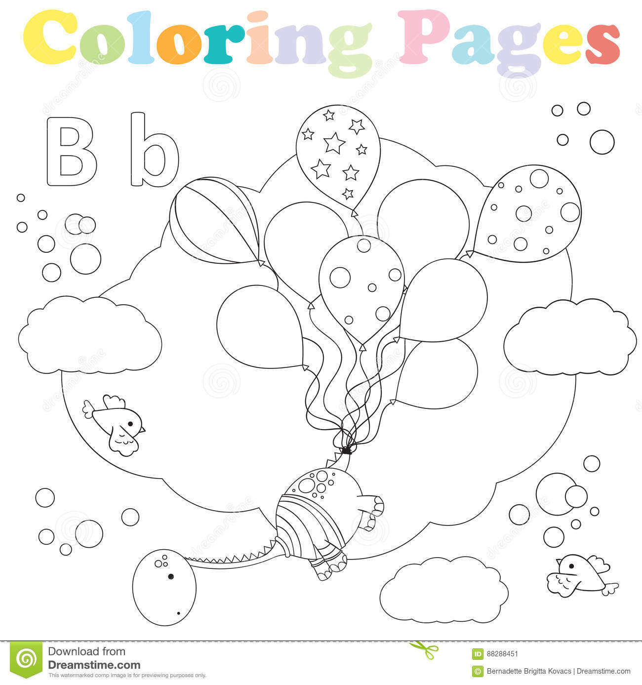 Letter B Worksheets, Flash Cards, Coloring Pages | 1387x1300