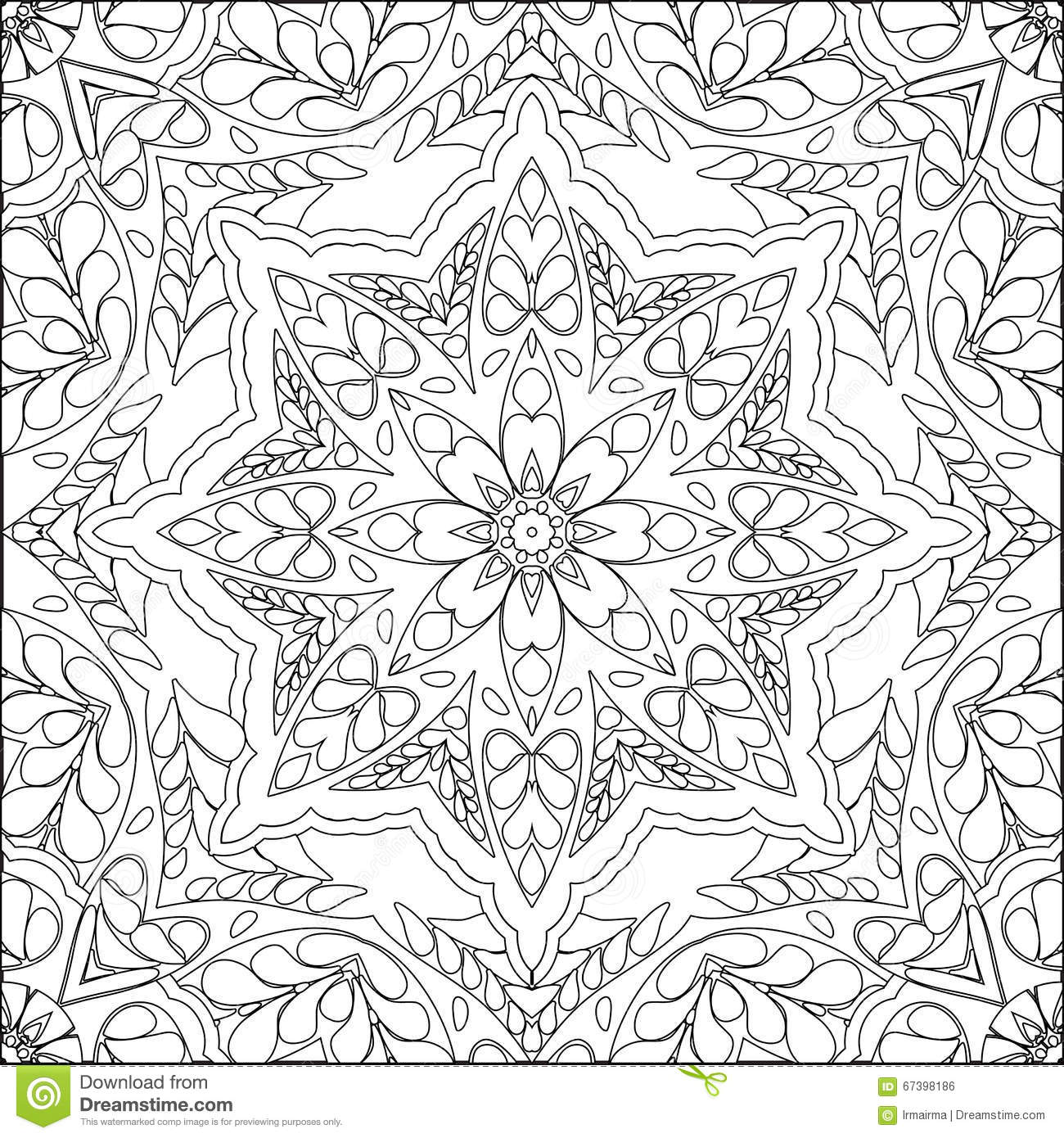 Coloring page mandala stock vector. Illustration of pattern - 67398186