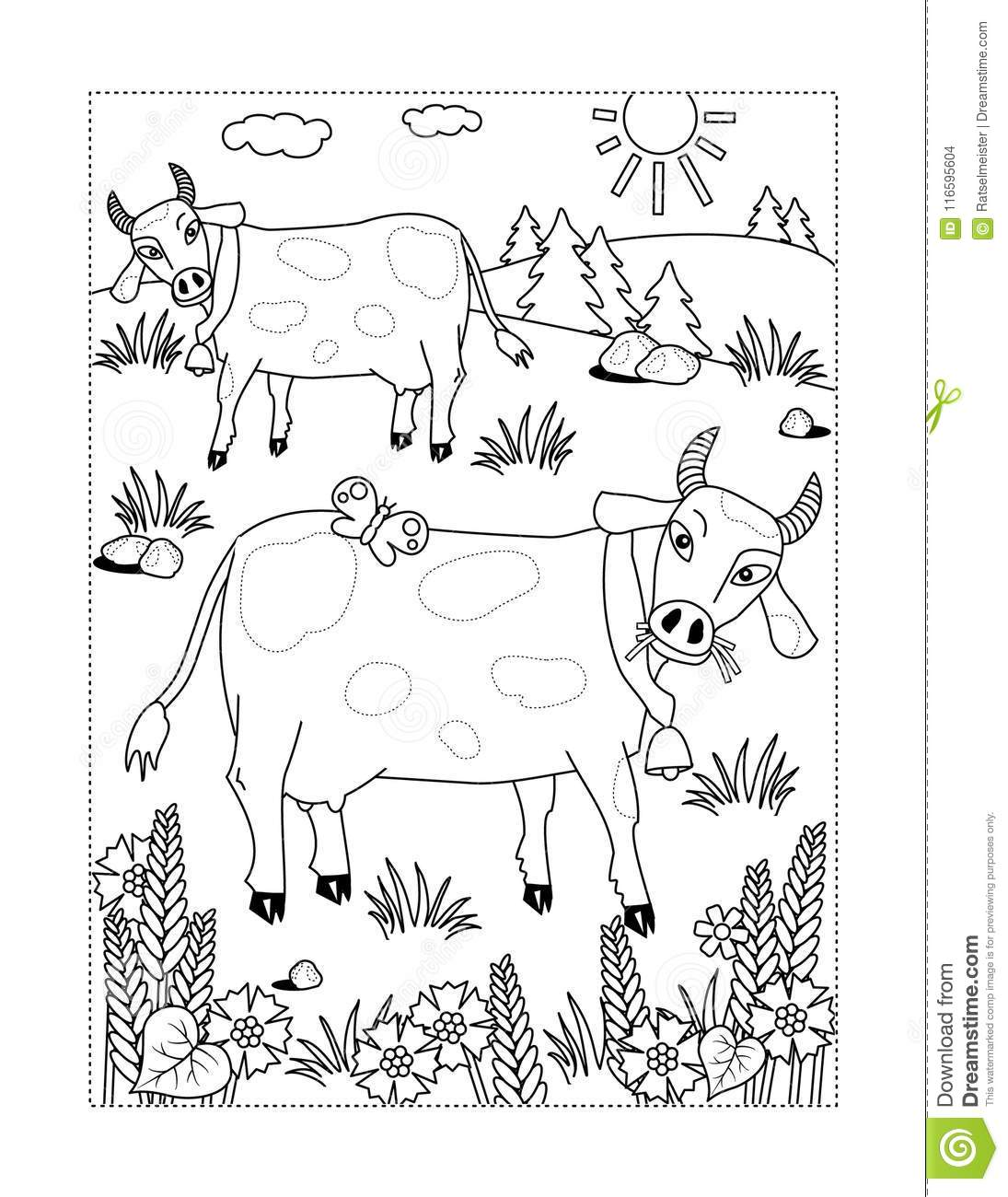 77 Top Coloring Page Milking Cow For Free