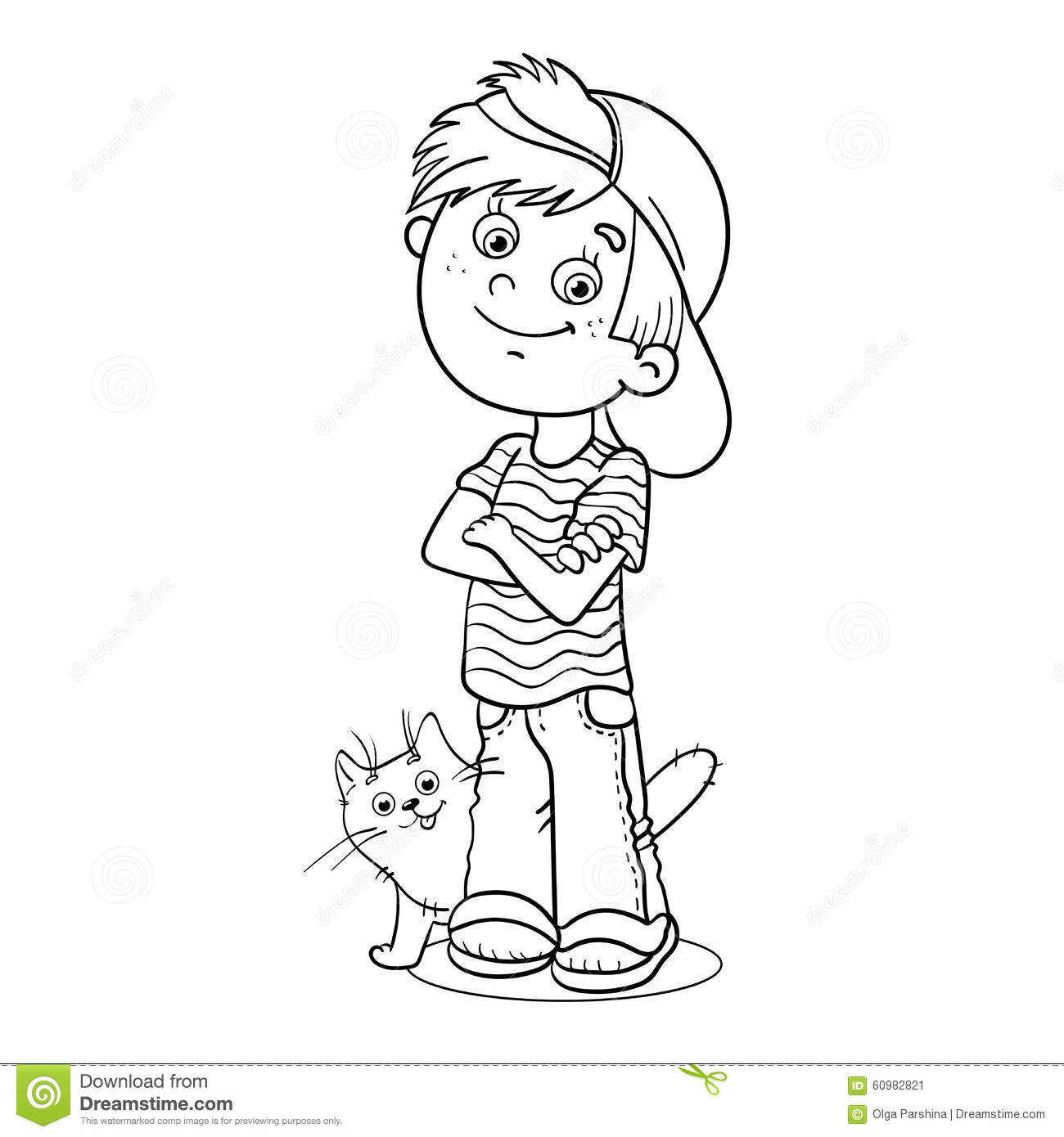 92 Cat Boy Coloring Page