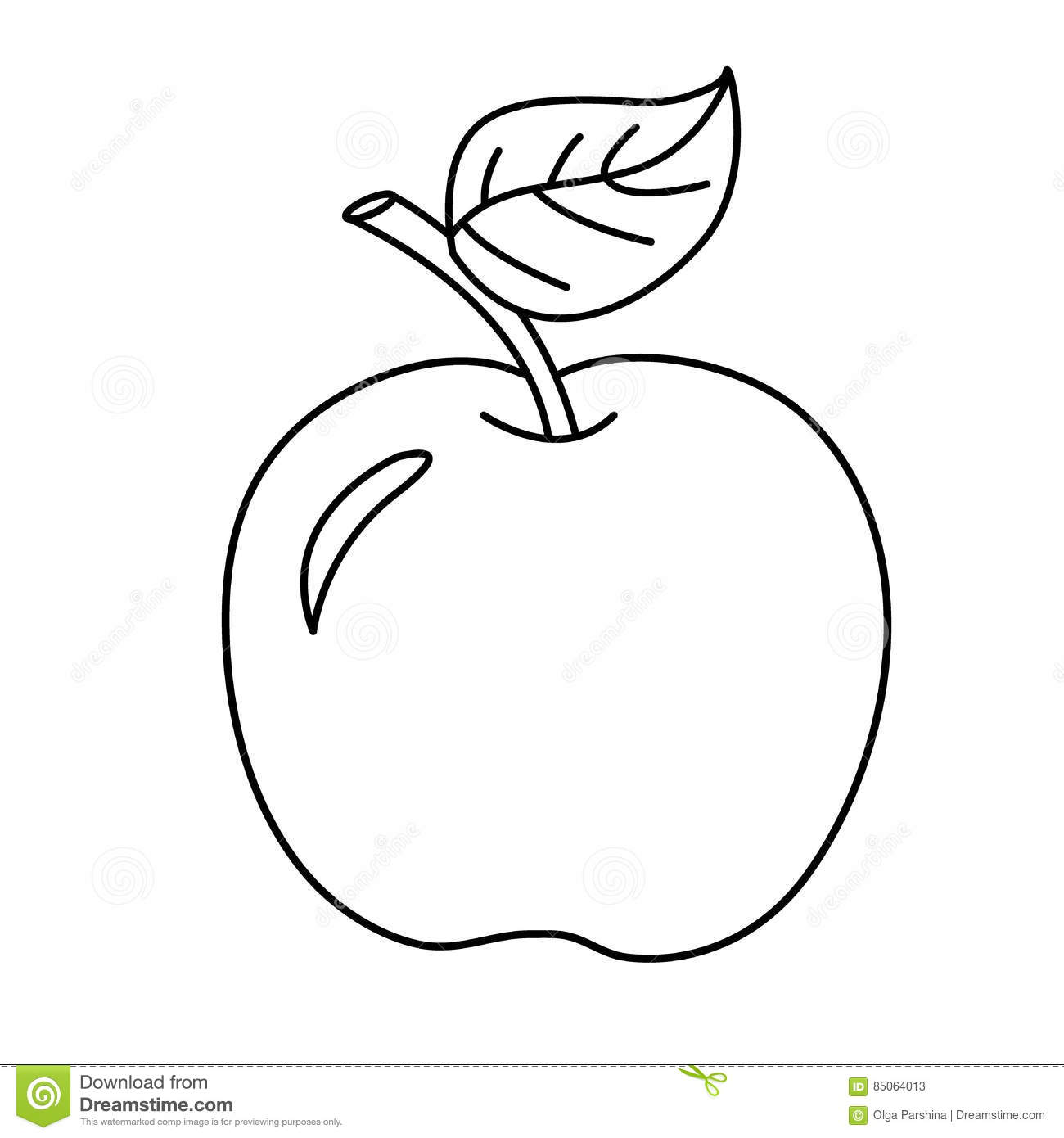 coloring page outline of cartoon apple fruits coloring book