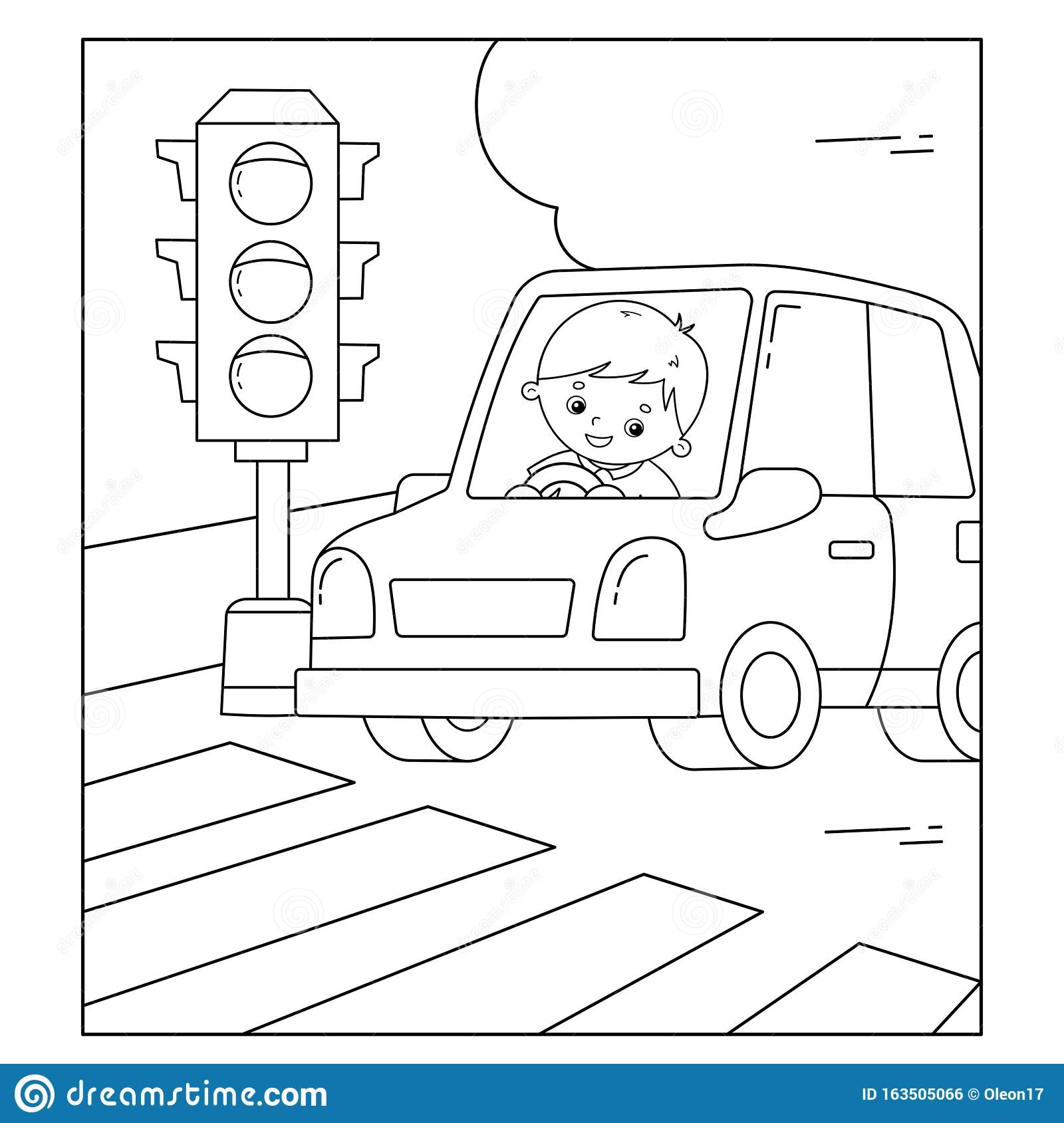 Coloring Traffic Stock Illustrations 1 184 Coloring Traffic Stock Illustrations Vectors Clipart Dreamstime