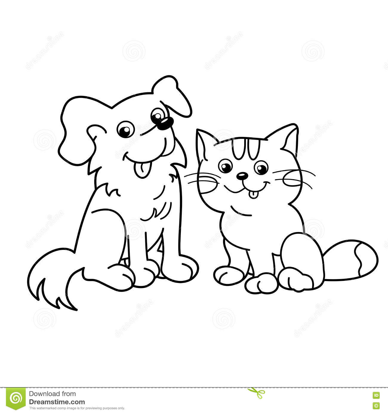 coloring pages of cats and dogs halloween cat coloring pages