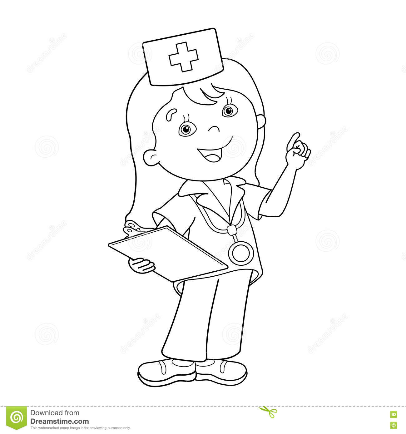 male nurse coloring pages - photo#34