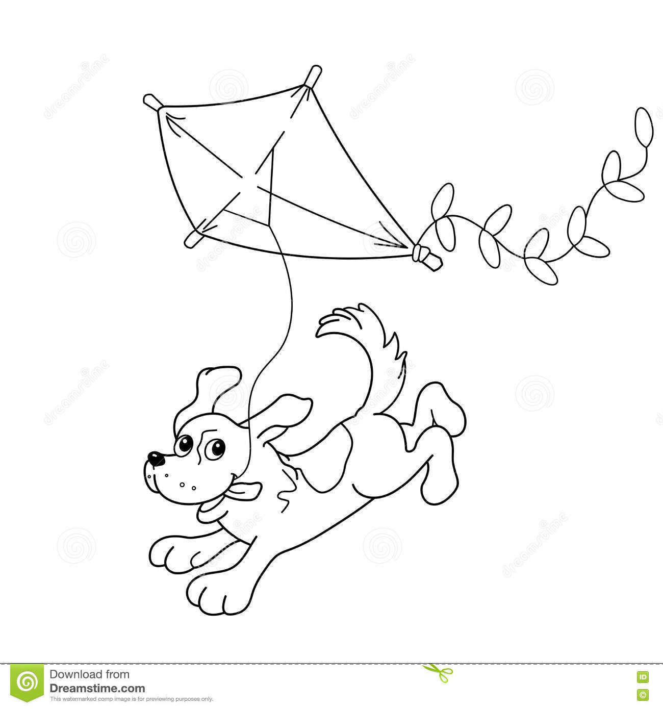 Free coloring pages kite - Royalty Free Vector Download Coloring Page