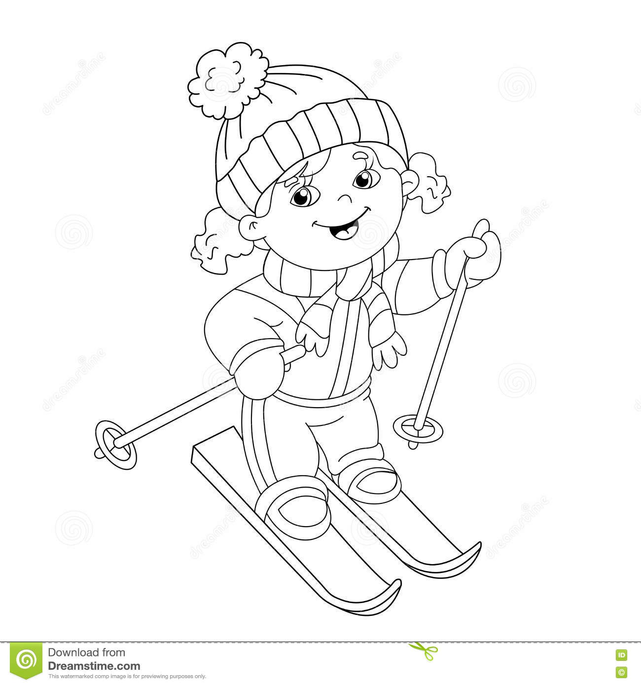 coloring page outline of a cartoon stock vector image 77704719