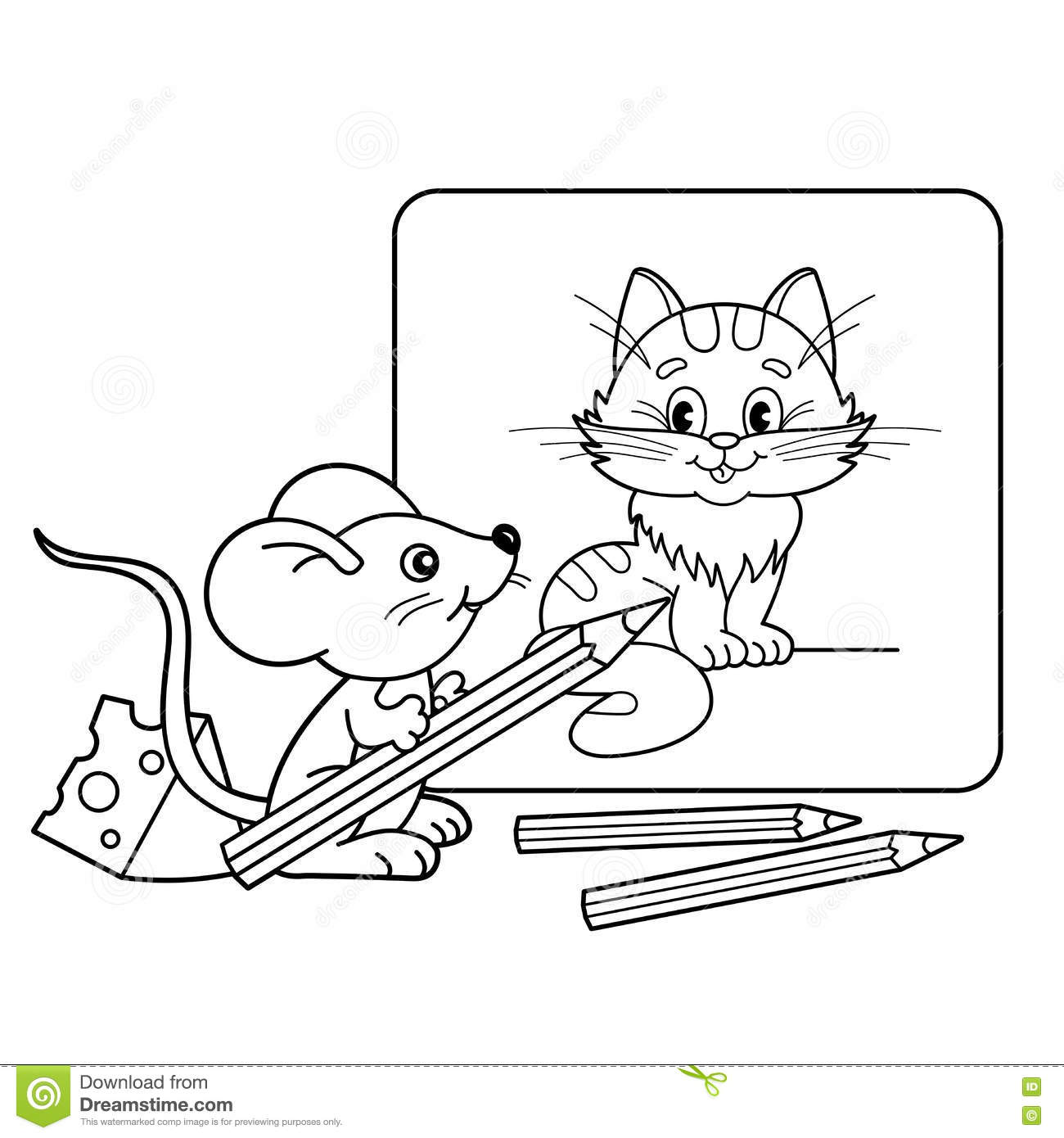 little mouse coloring pages - photo#24