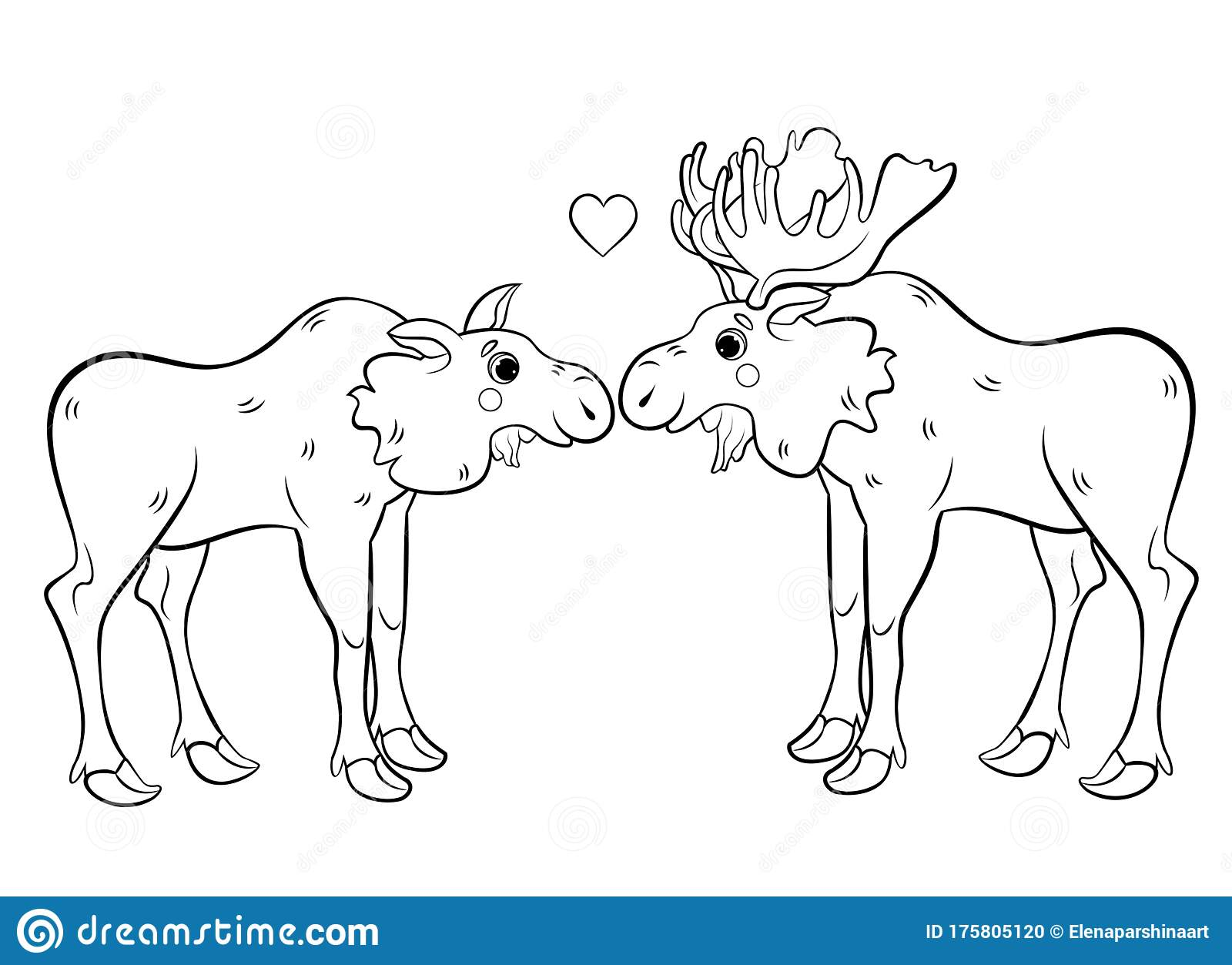 Moose coloring page - Free Printable Coloring Pages | Coloring ... | 1253x1600