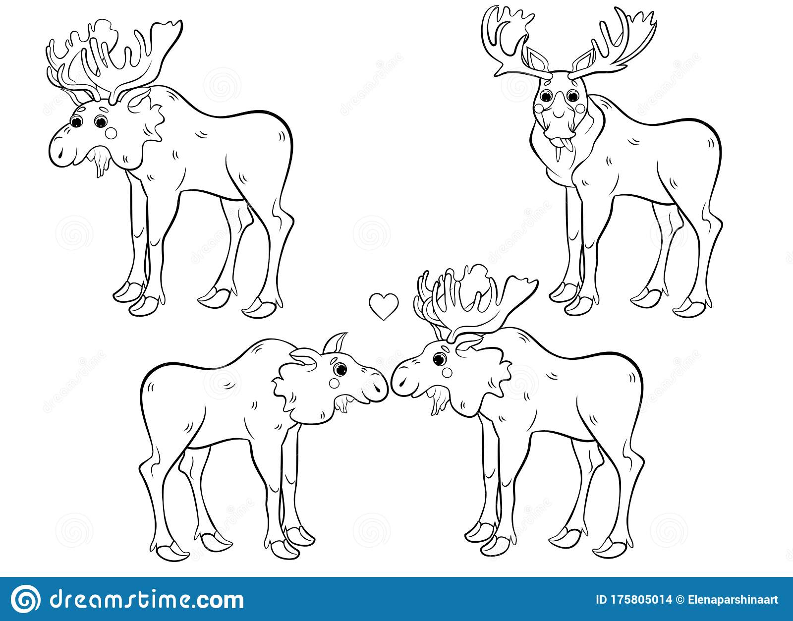 Free Coloring Pages Moose, Download Free Clip Art, Free Clip Art ... | 1253x1600