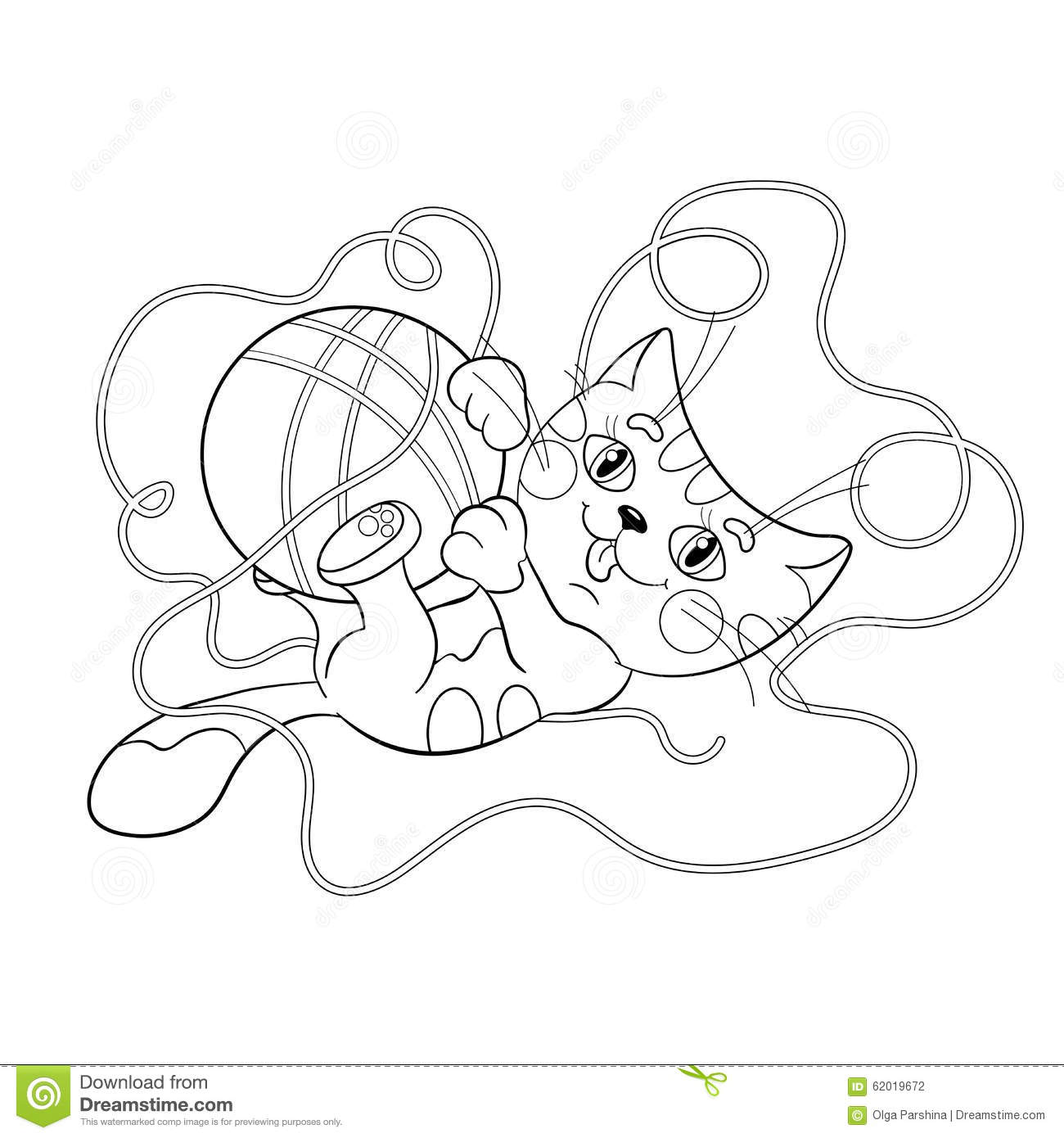Coloring Page Outline Of A Fluffy