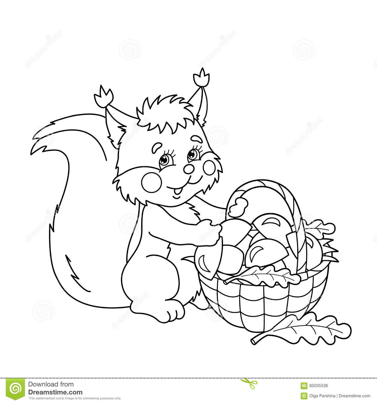coloring page outline of basket of mushrooms summer gifts of