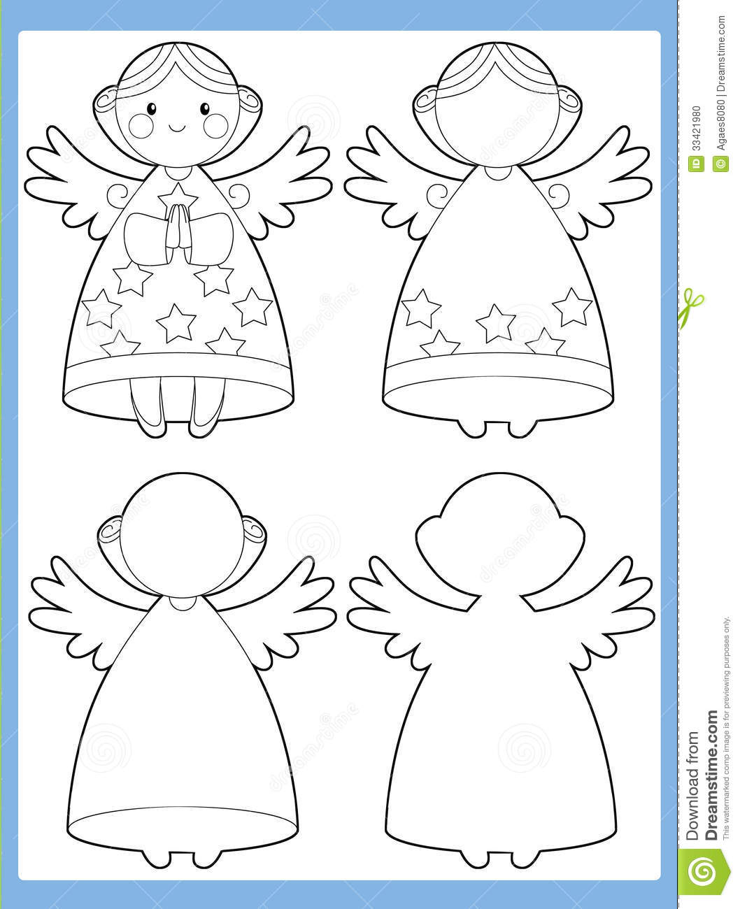 The Coloring Page With Pattern