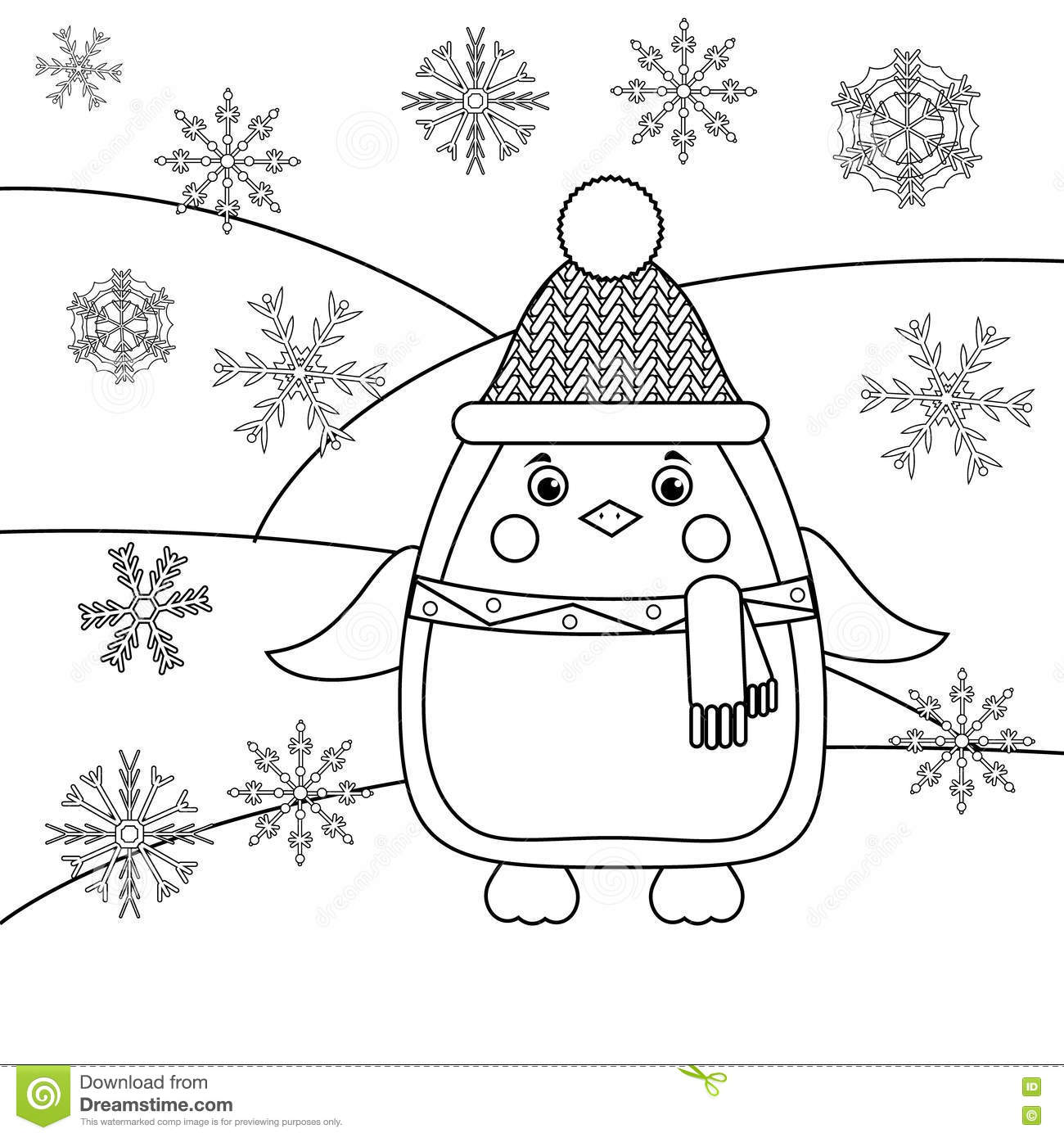 Snowflakes coloring page | Crafts and Worksheets for Preschool ... | 1390x1300