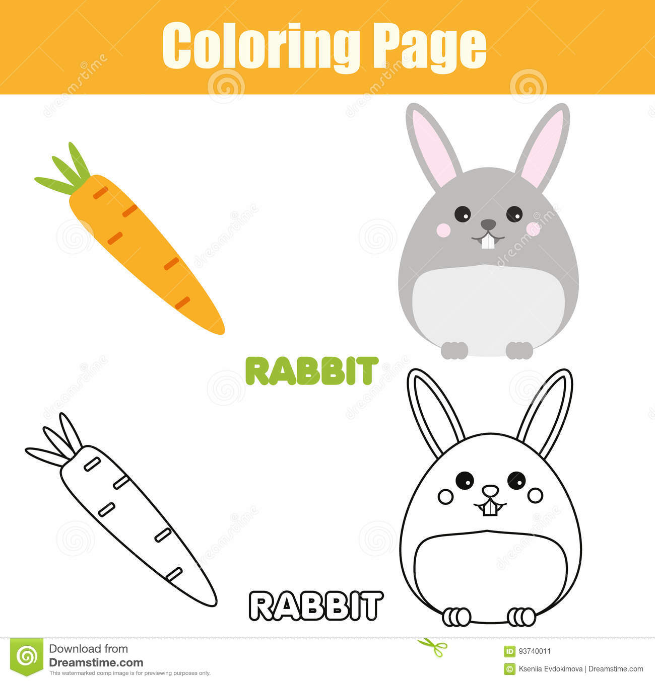 picture relating to Rabbit Printable titled Coloring Webpage With Rabbit, Bunny Individuality. Enlightening Sport