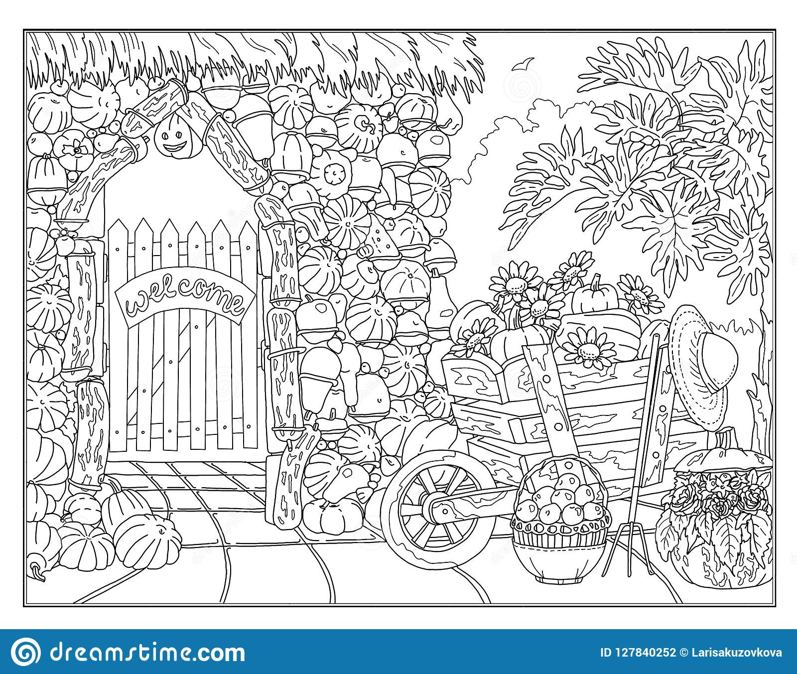 Coloring Garden Stock Illustrations 21 218 Coloring Dreamstime