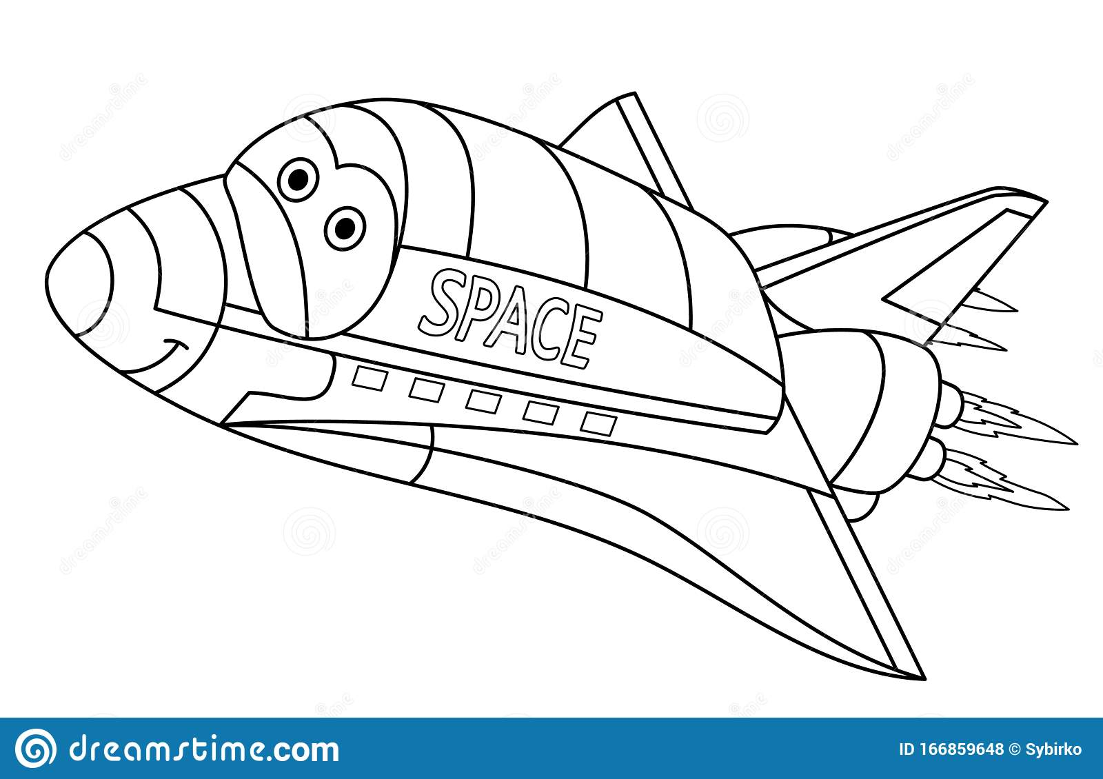 Space Shuttle Coloring Page Stock Illustrations – 18 Space ...